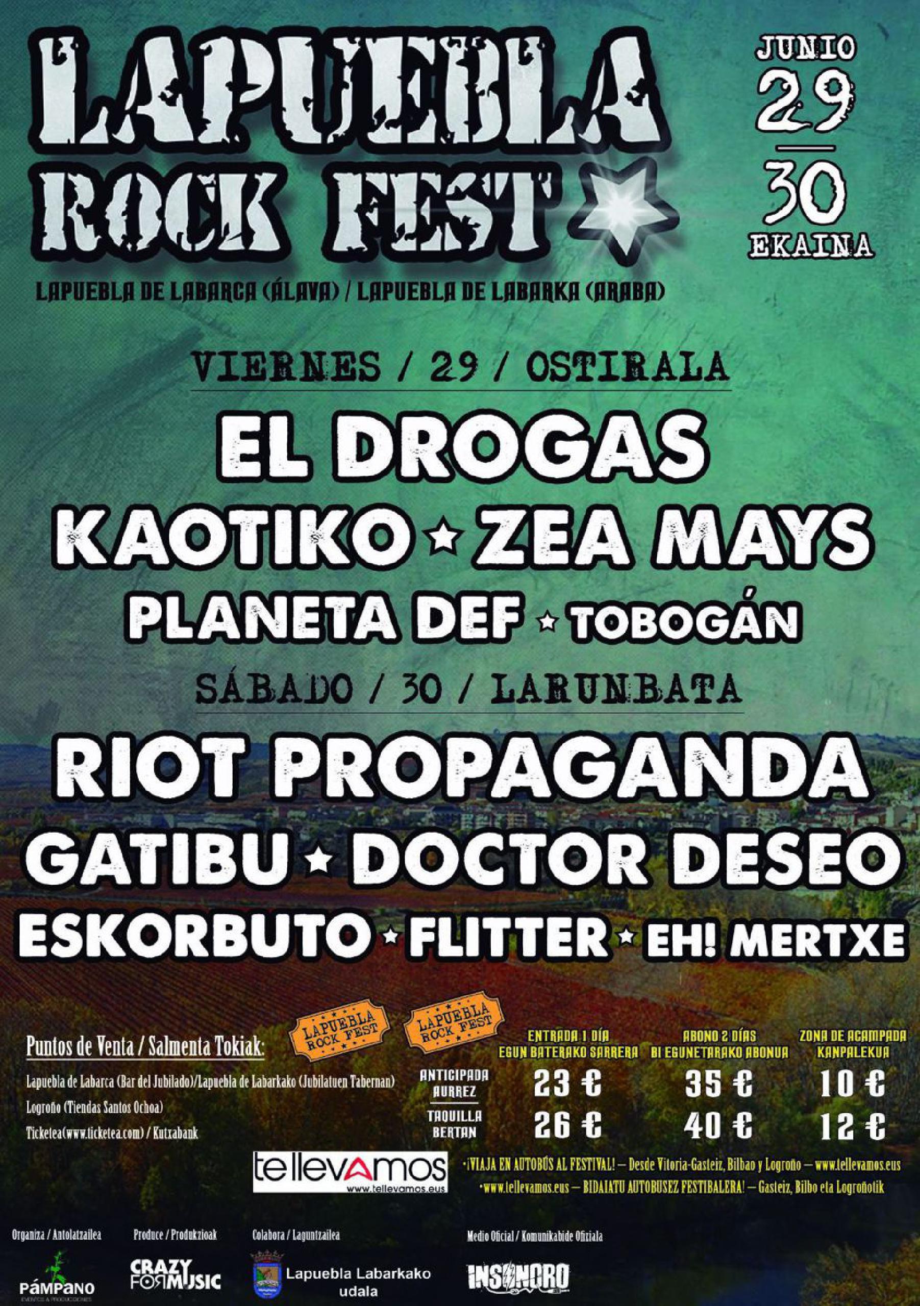Cartel de Lapuebla Rock Fest