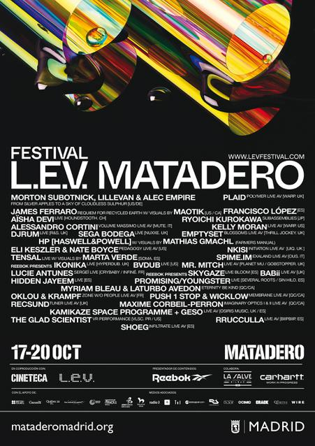 Cartel LEV Matadero 2019 Line up LEV Matadero Madrid 2019