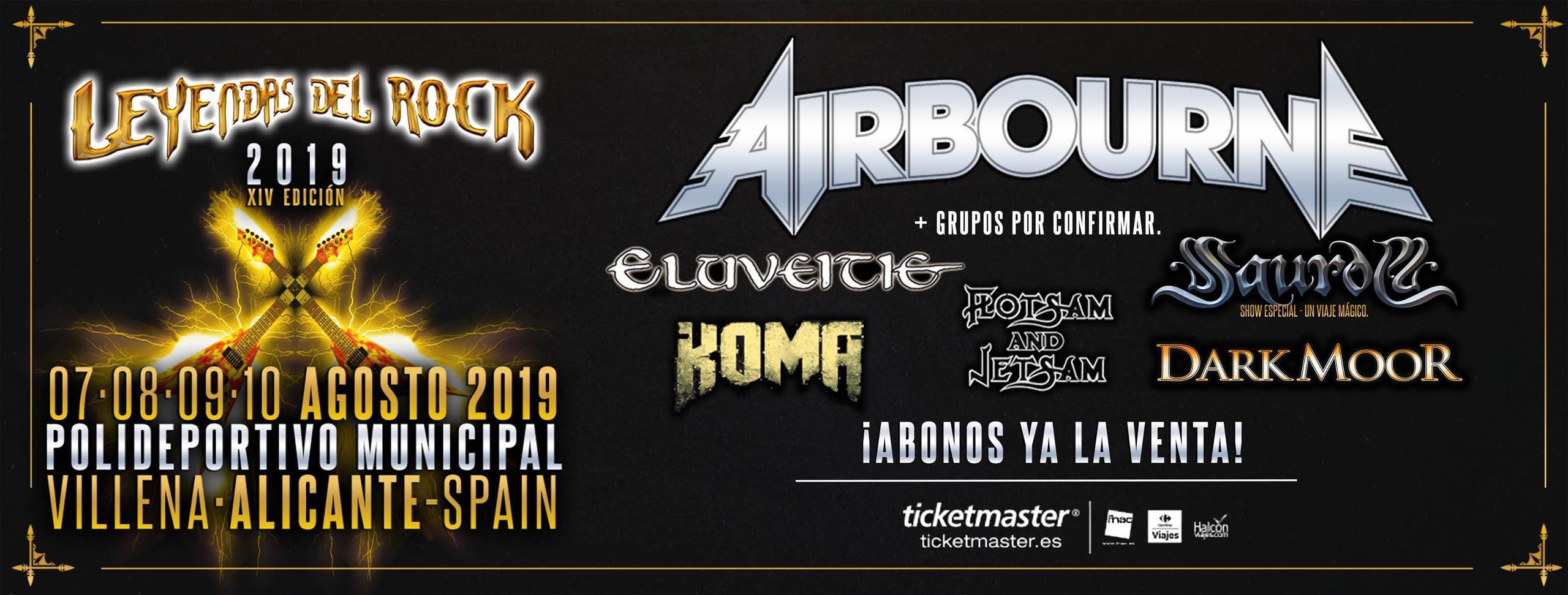 Cartel confirmaciones Leyendas del Rock 2019