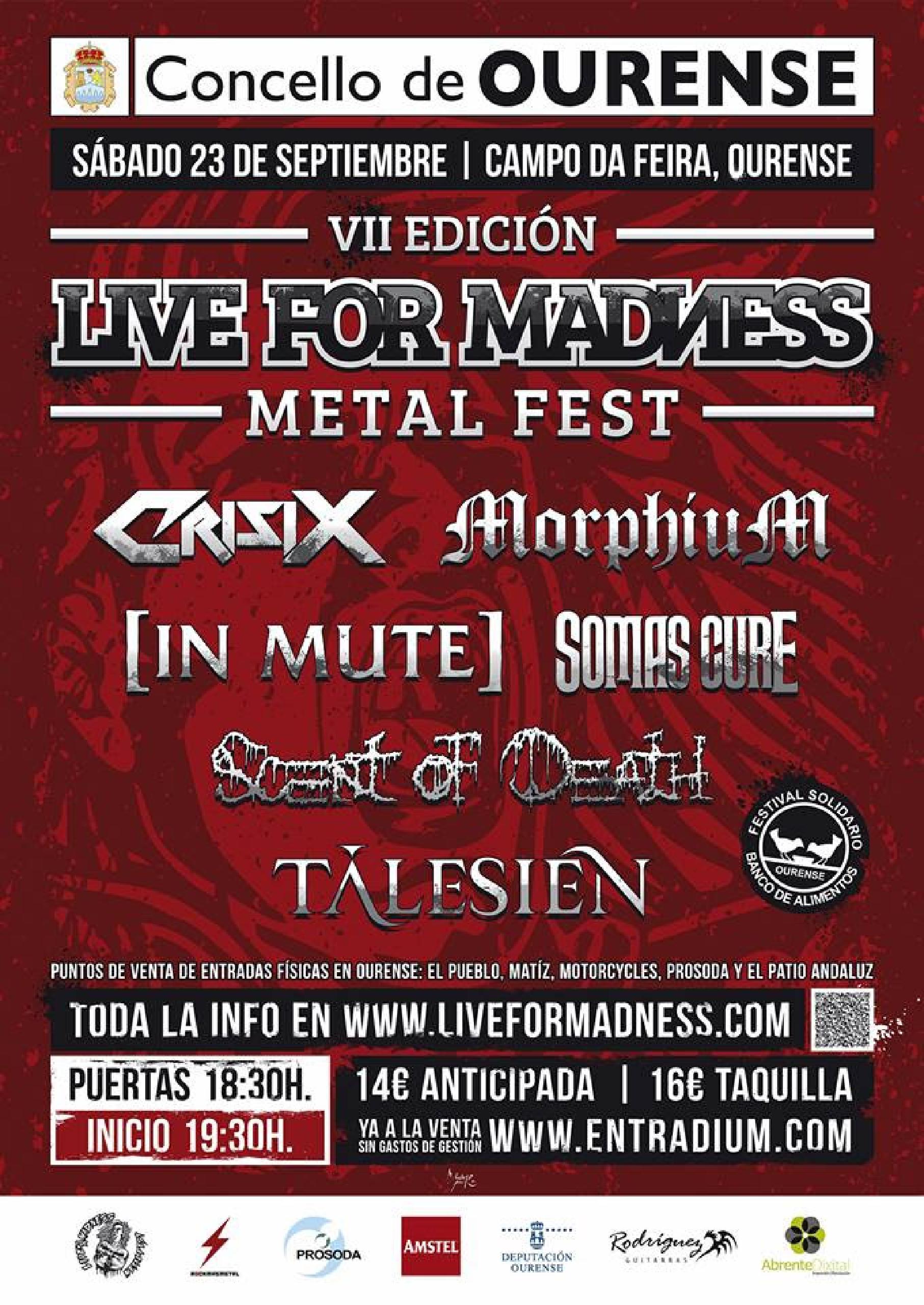Cartel oficial de Live For Madness 2017.