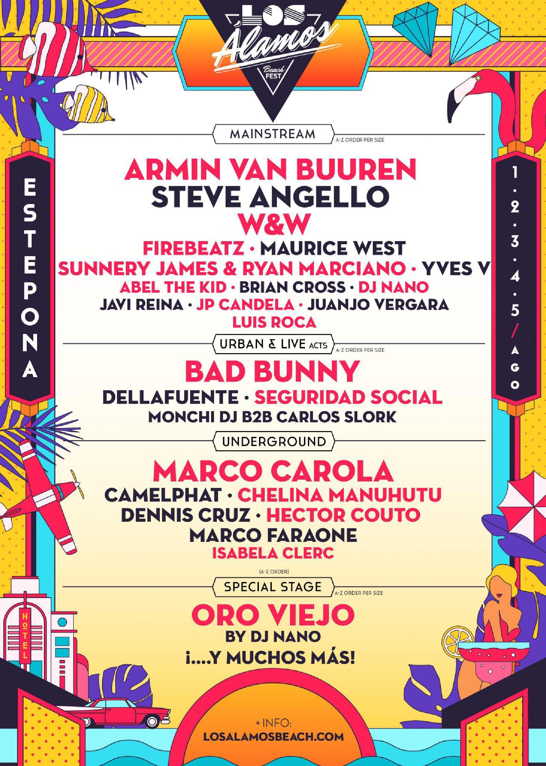 Los Álamos Beach Fest 2018 cartel confirmaciones