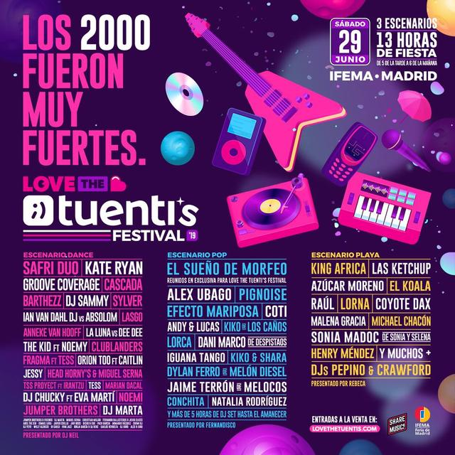 Cartel artistas confirmaciones Love The Tuenti's 2019 Madrid