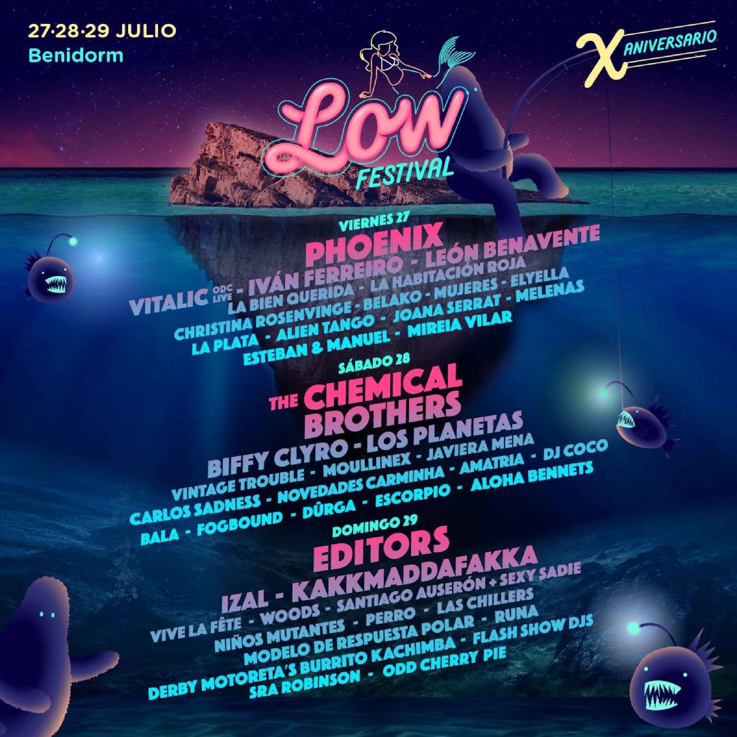 Cartel por días Low Festival 2018
