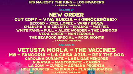 Cartel por días Low Festival 2019