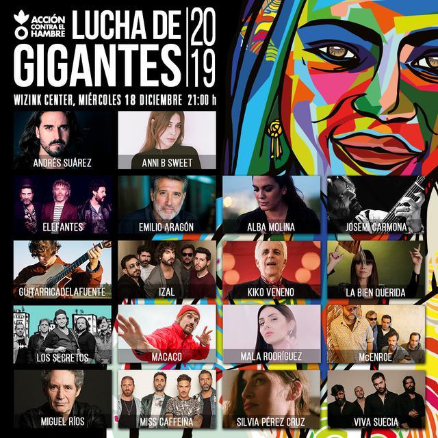 Cartel del festival Lucha de Gigantes
