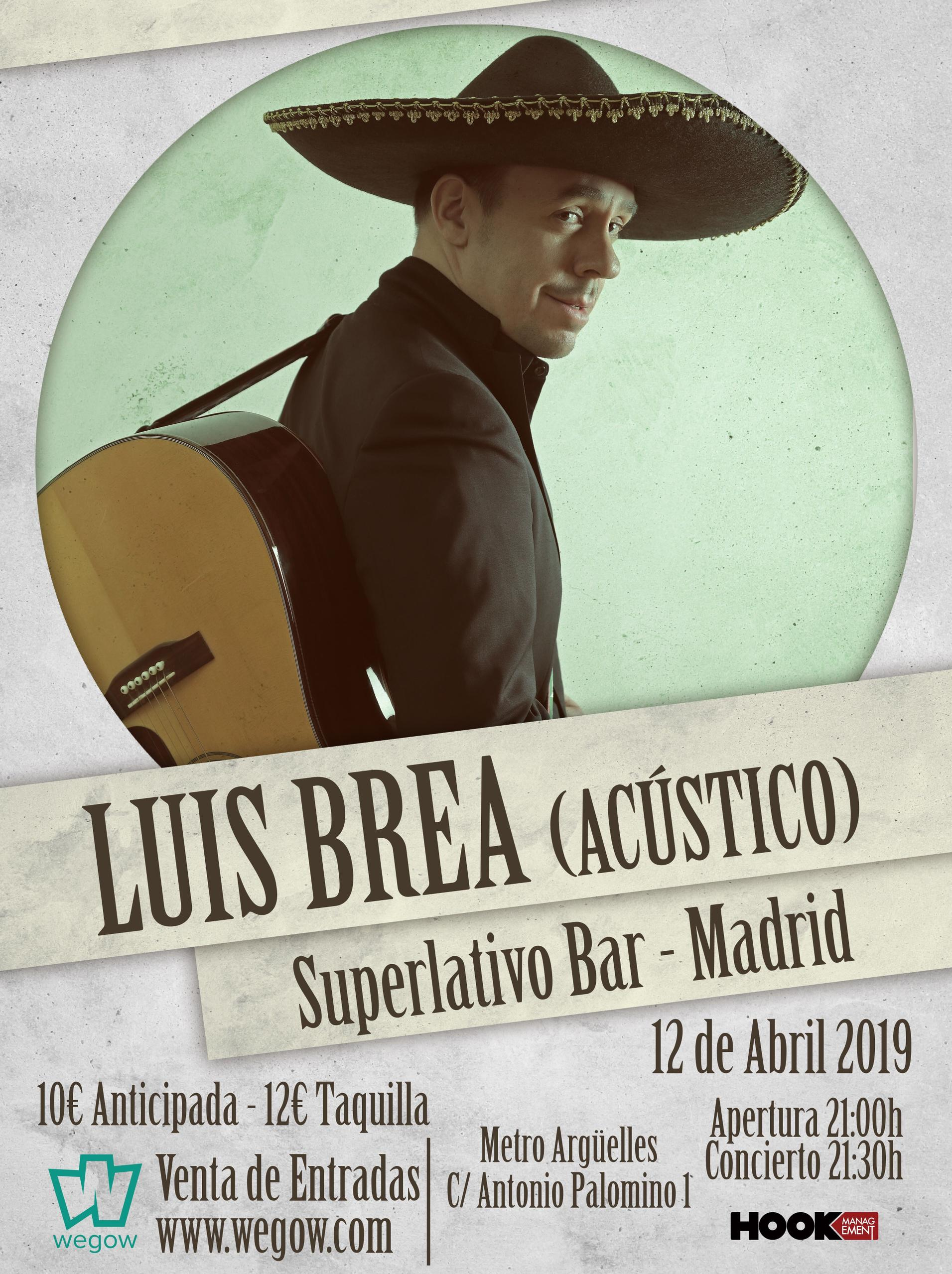 Luis Brea en Superlativo Bar de Madrid