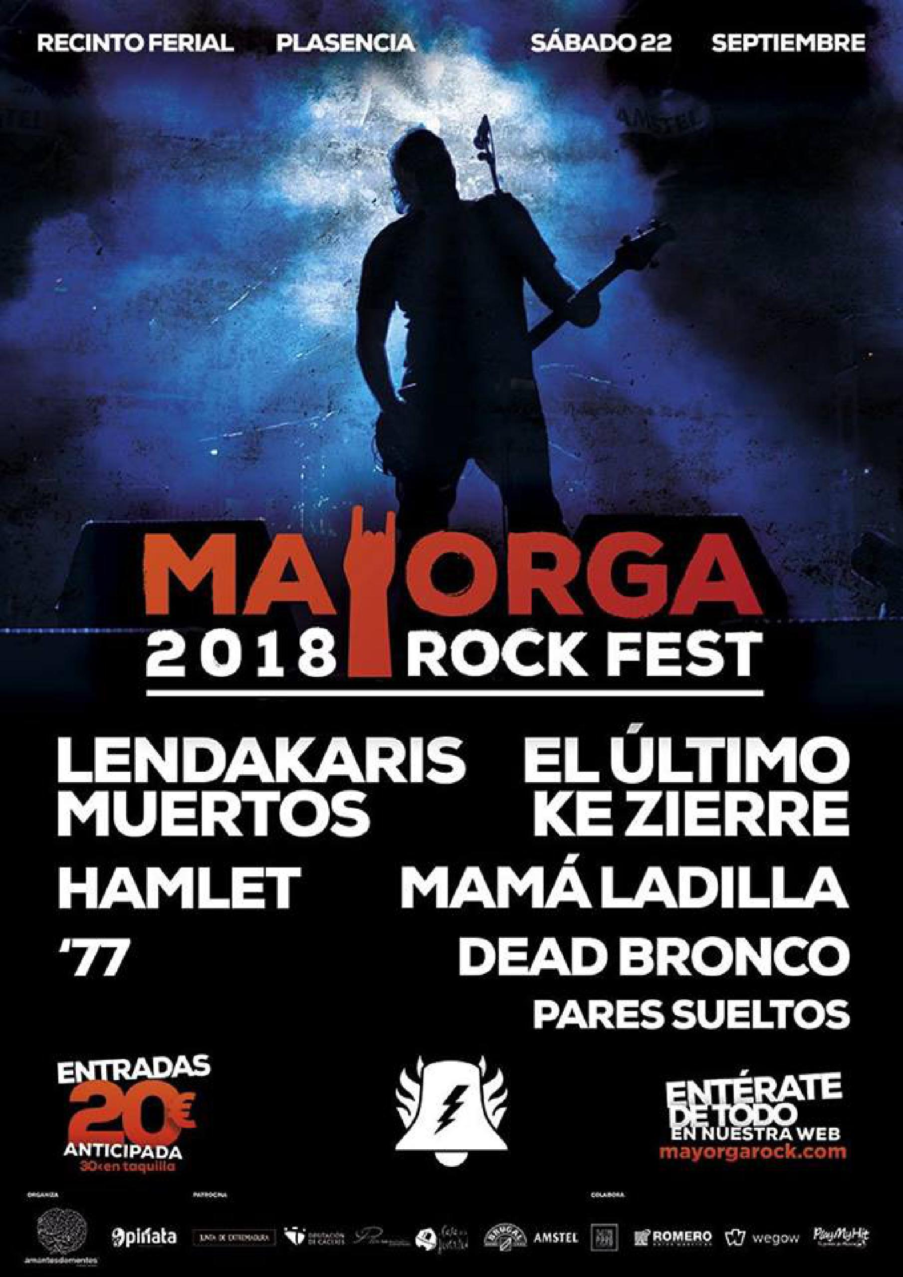 Entradas Mayorga Rock 2018