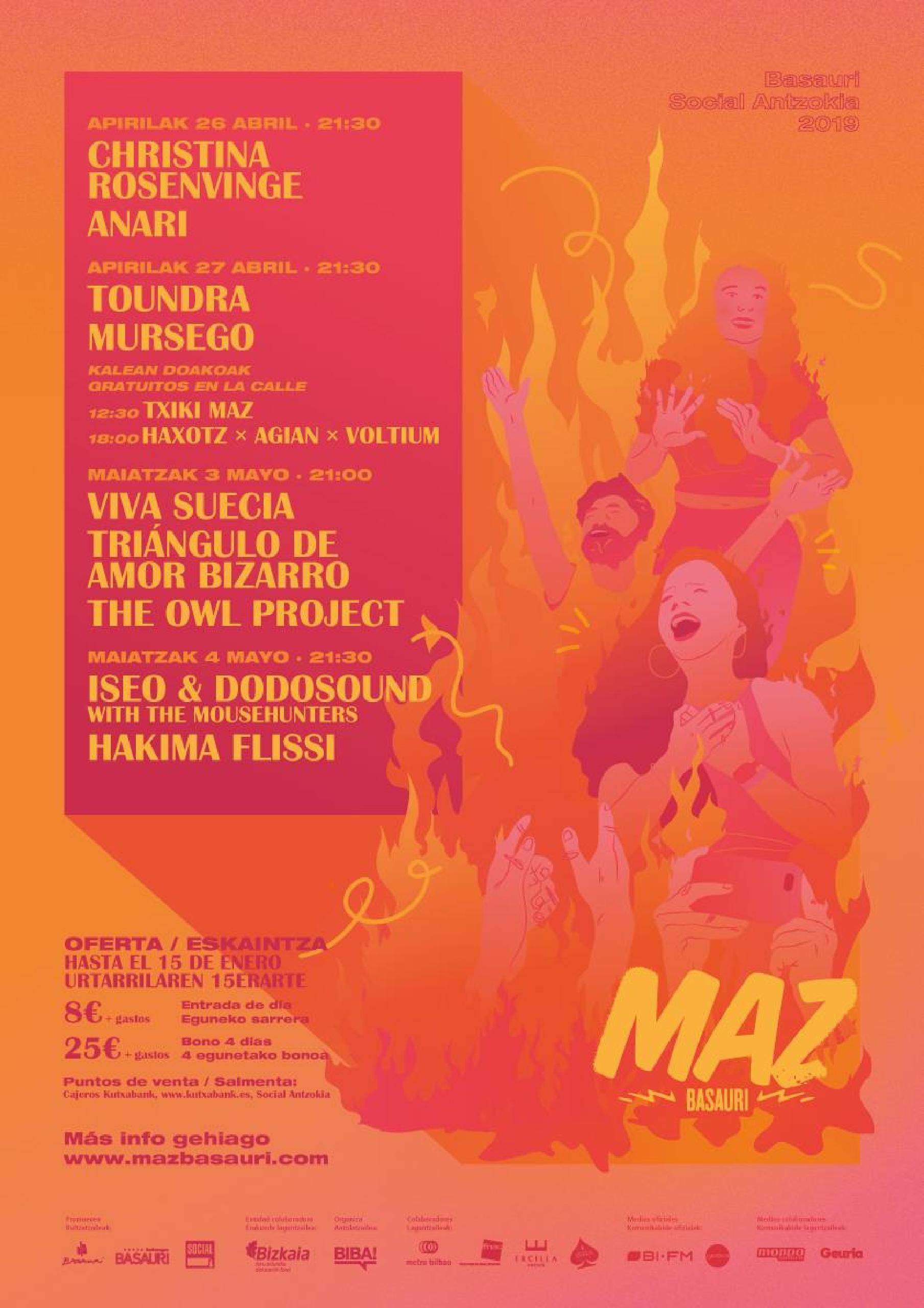 Cartel confirmaciones MAZ Basauri 2019