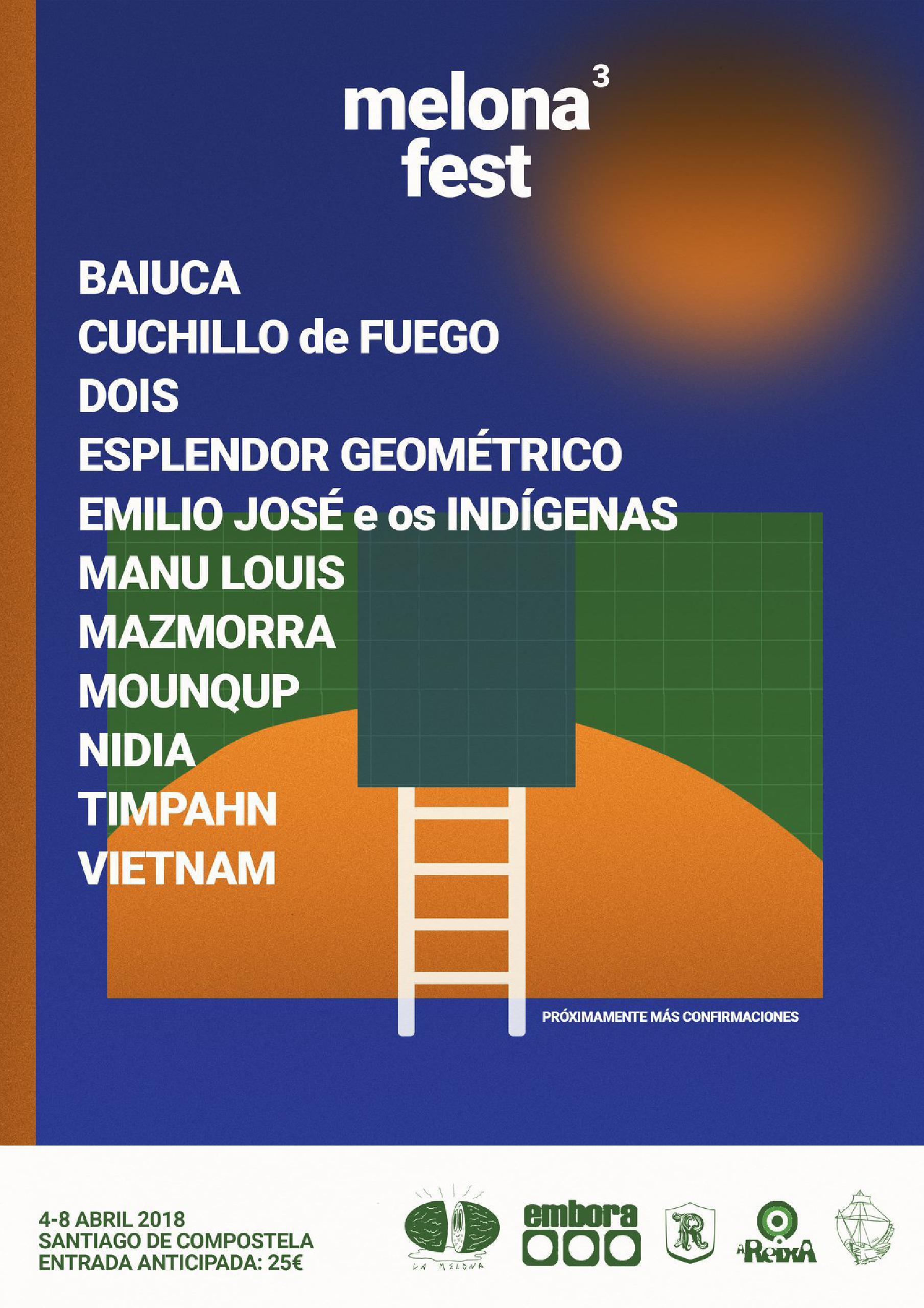 Cartel confirmaciones Melona Fest 2018
