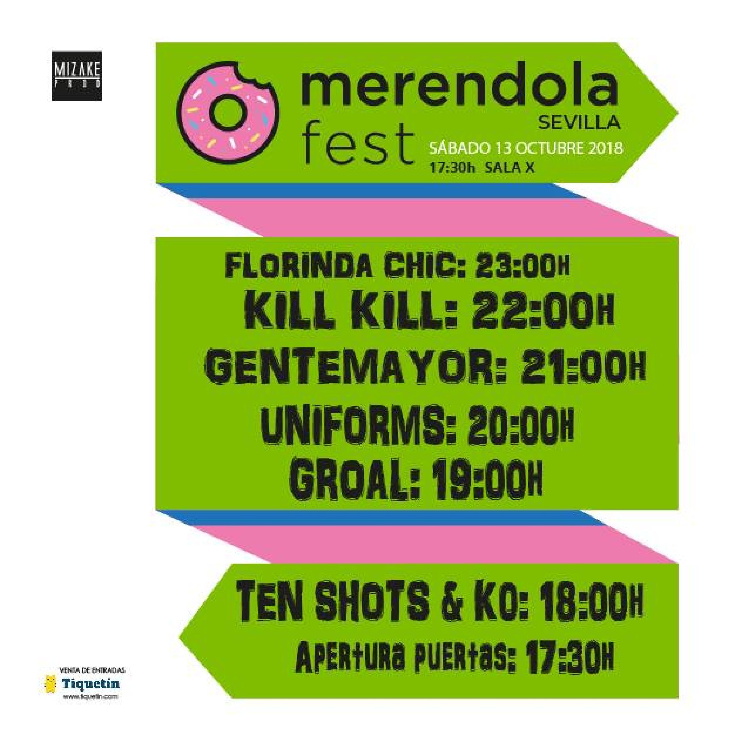 Horarios Merendola Fest 2018