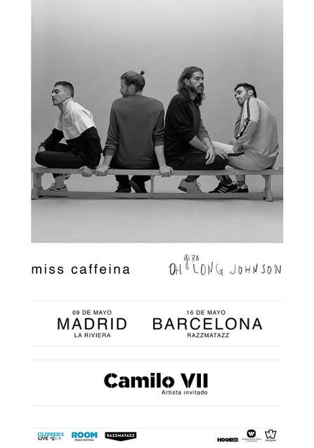 Concierto Miss Caffeina + Camilo VII en La Riviera de Madrid