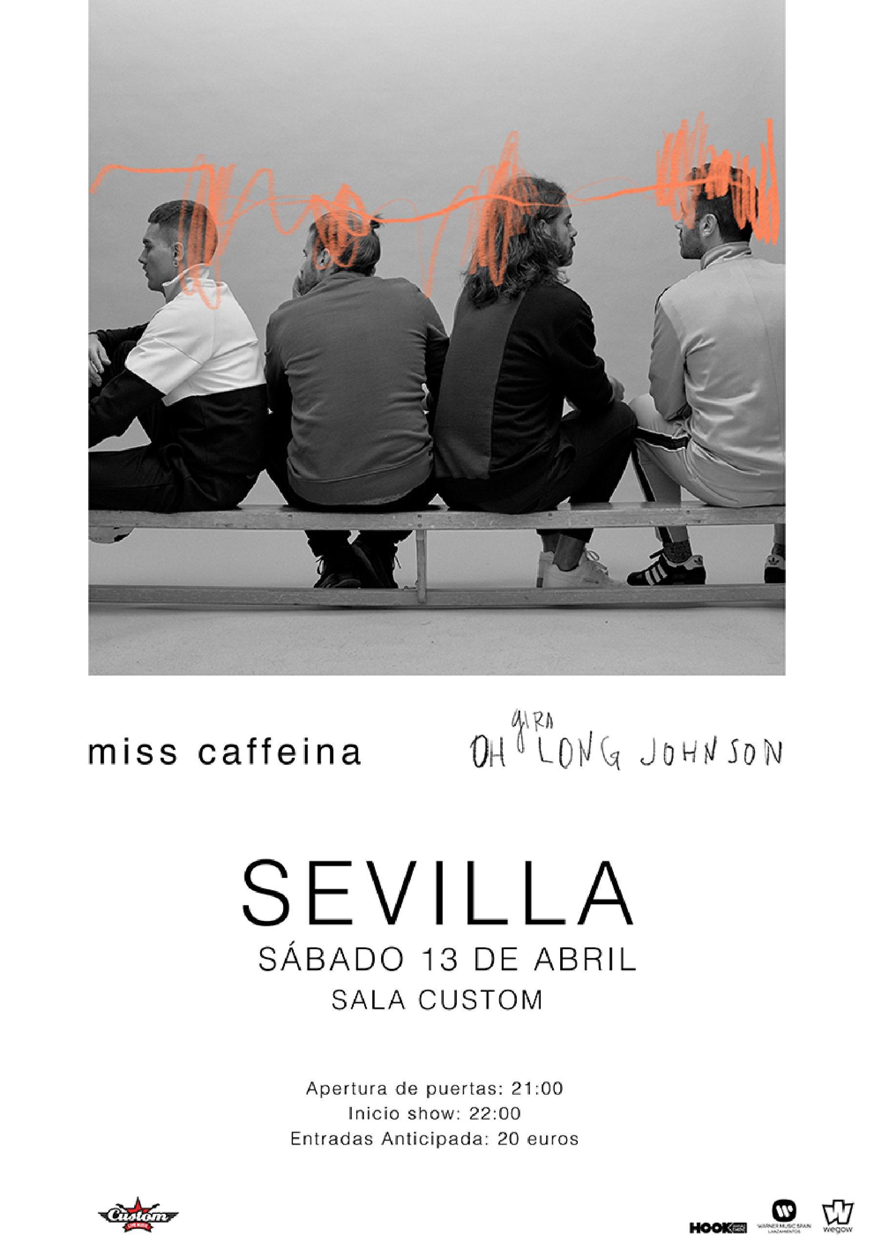 Miss Caffeina en la sala Custom de Sevilla