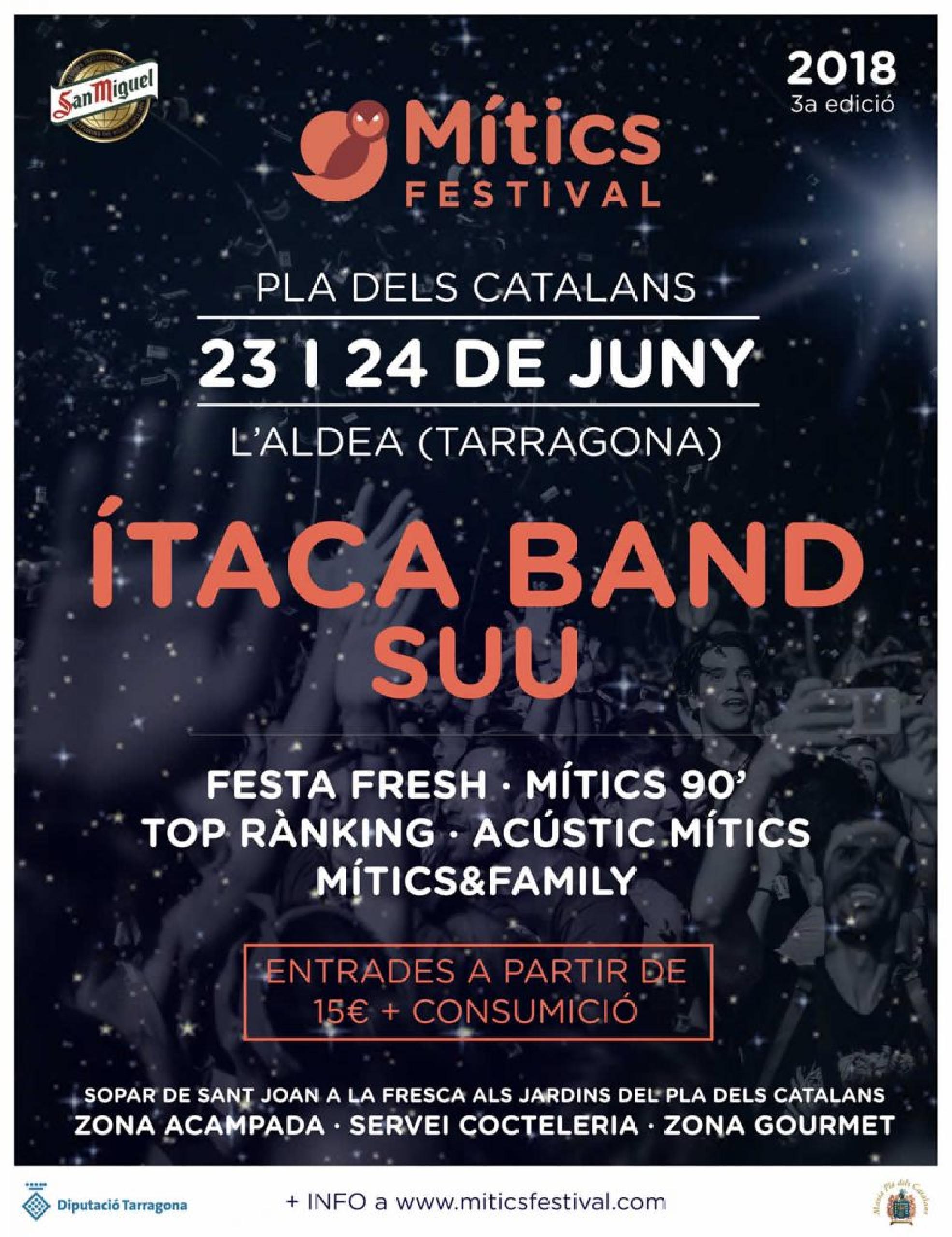 Foto del cartel de Mítics San Juan 2018