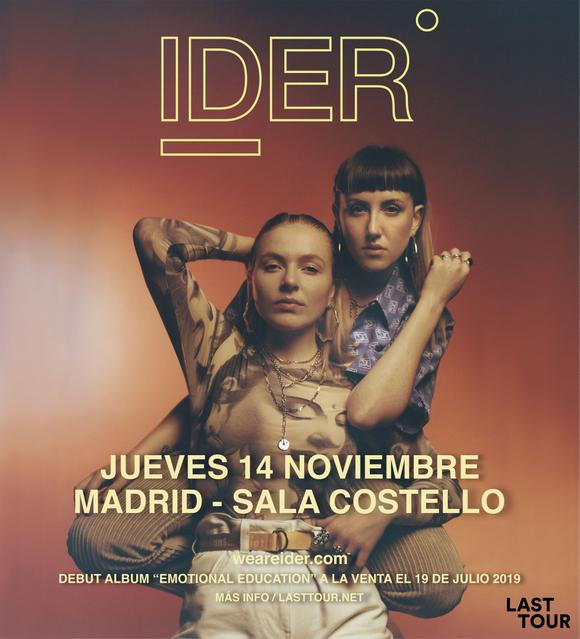 Momentos Alhambra presenta IDER en Sala Costello