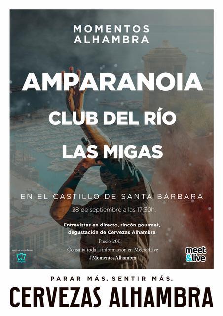 Momentos Alhambra: Amparanoia, Club del Río y Las Migas en el Castillo de Santa Bárbara