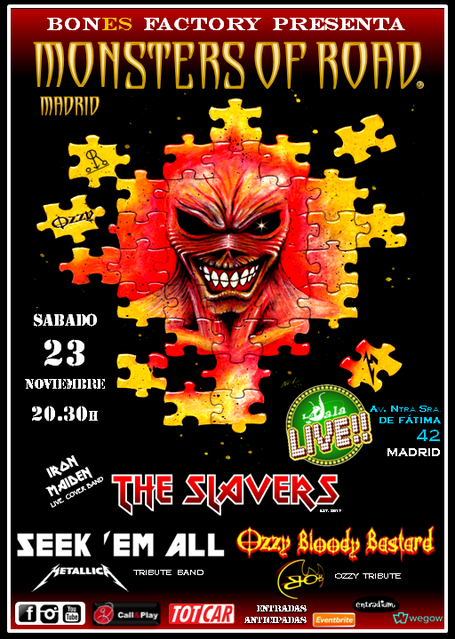 Cartel Oficial Monsters of Road Madrid