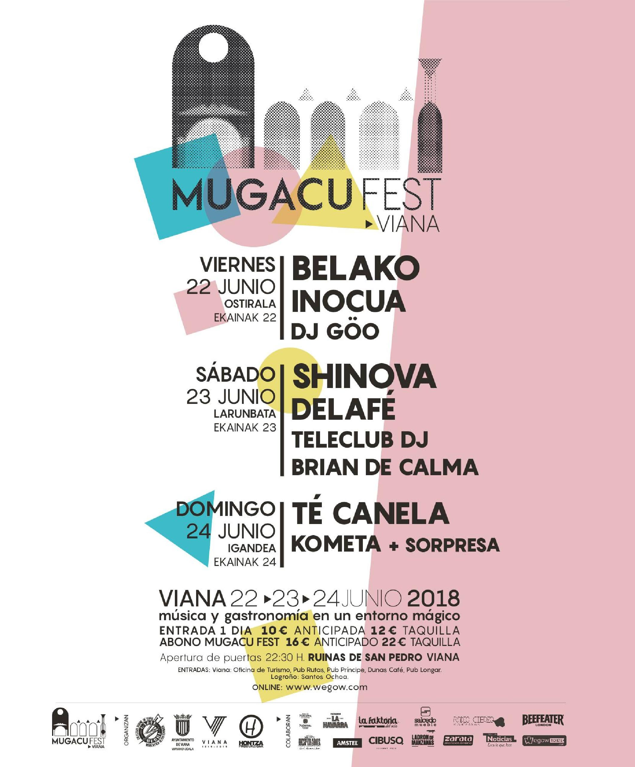 Cartel por días Mugacu Fest Viana 2018