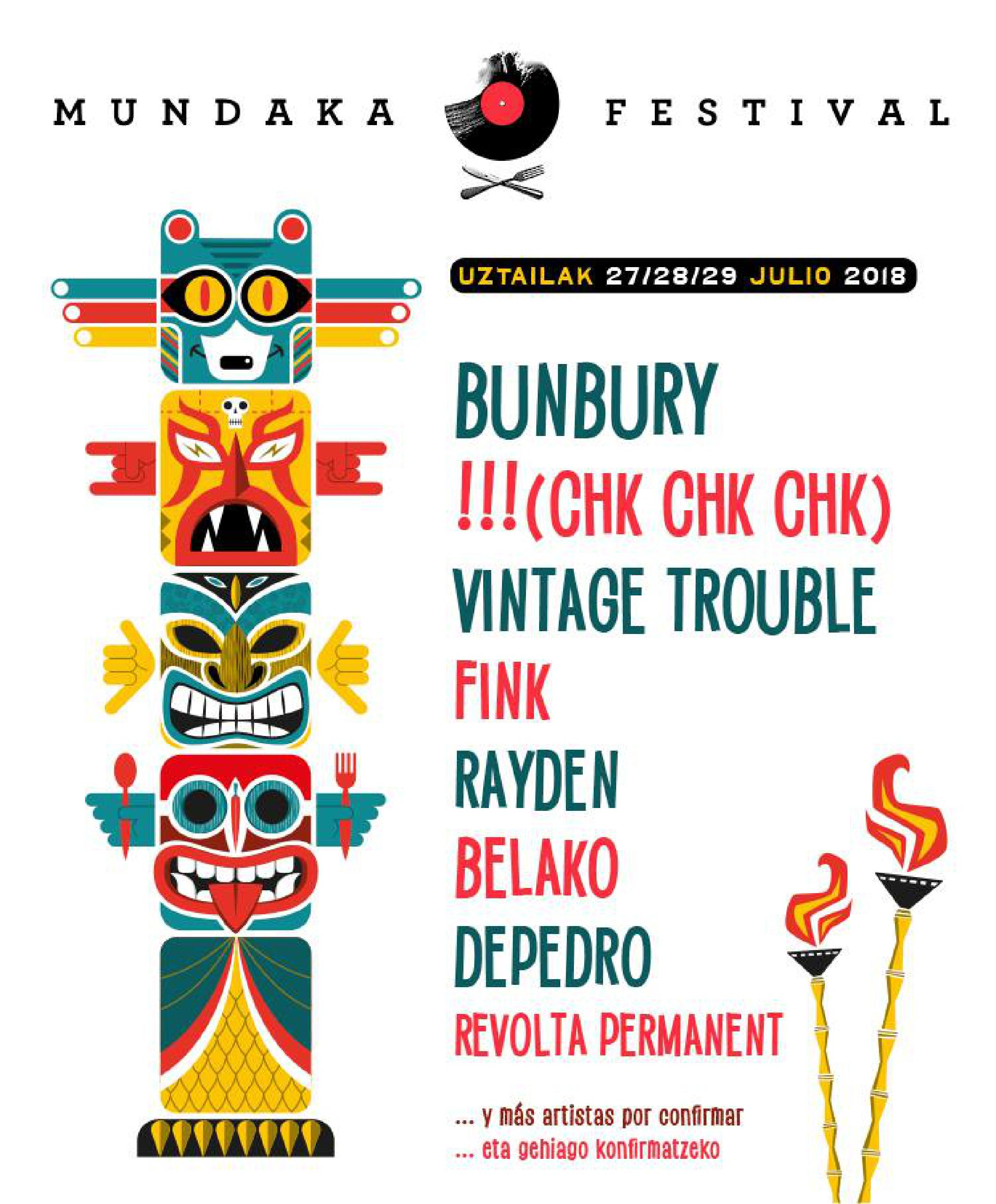 Cartel Festival Mundaka 2018 Primeras Confirmaciones