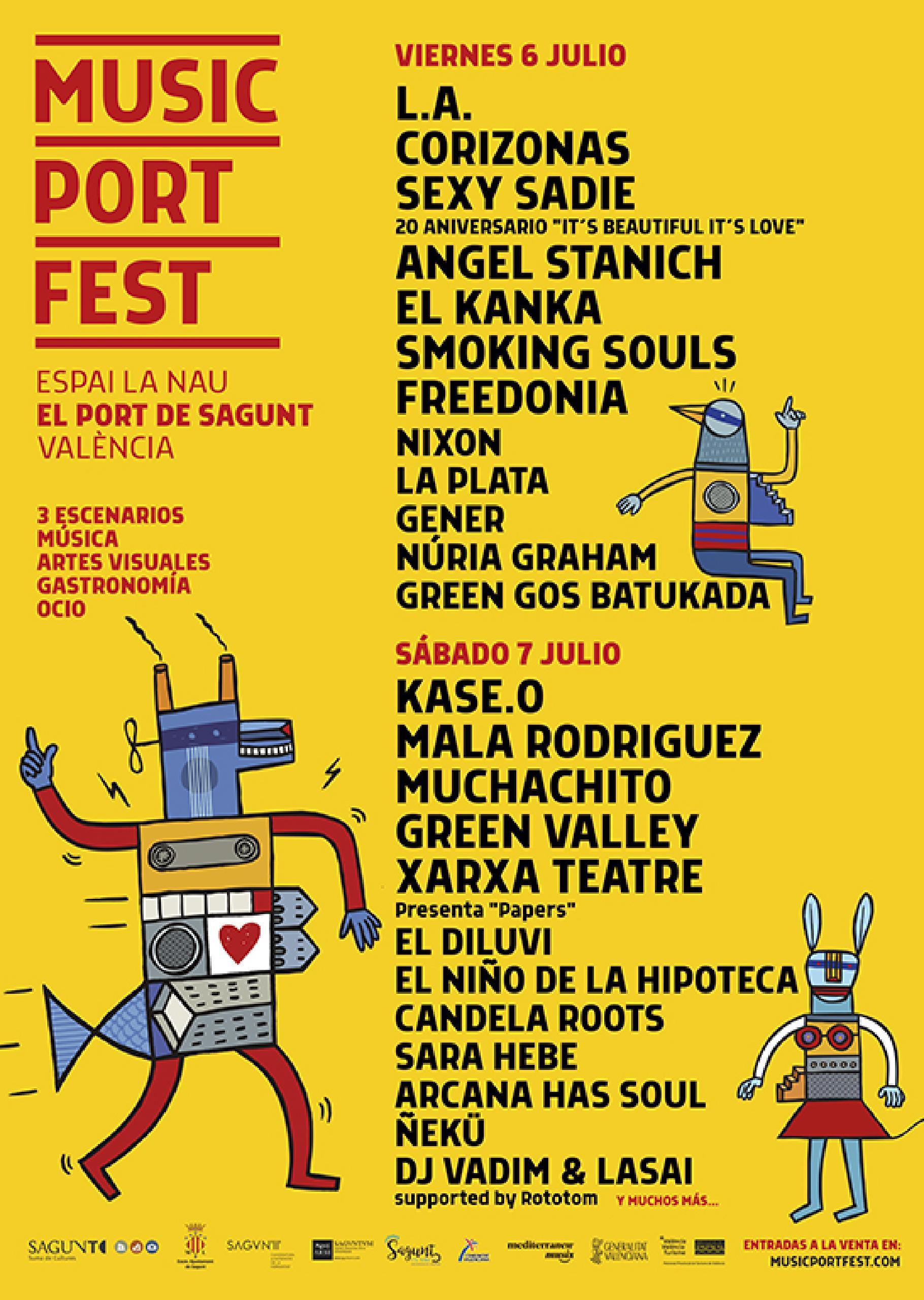 Cartel por días Port Music Fest Sagunto 2018