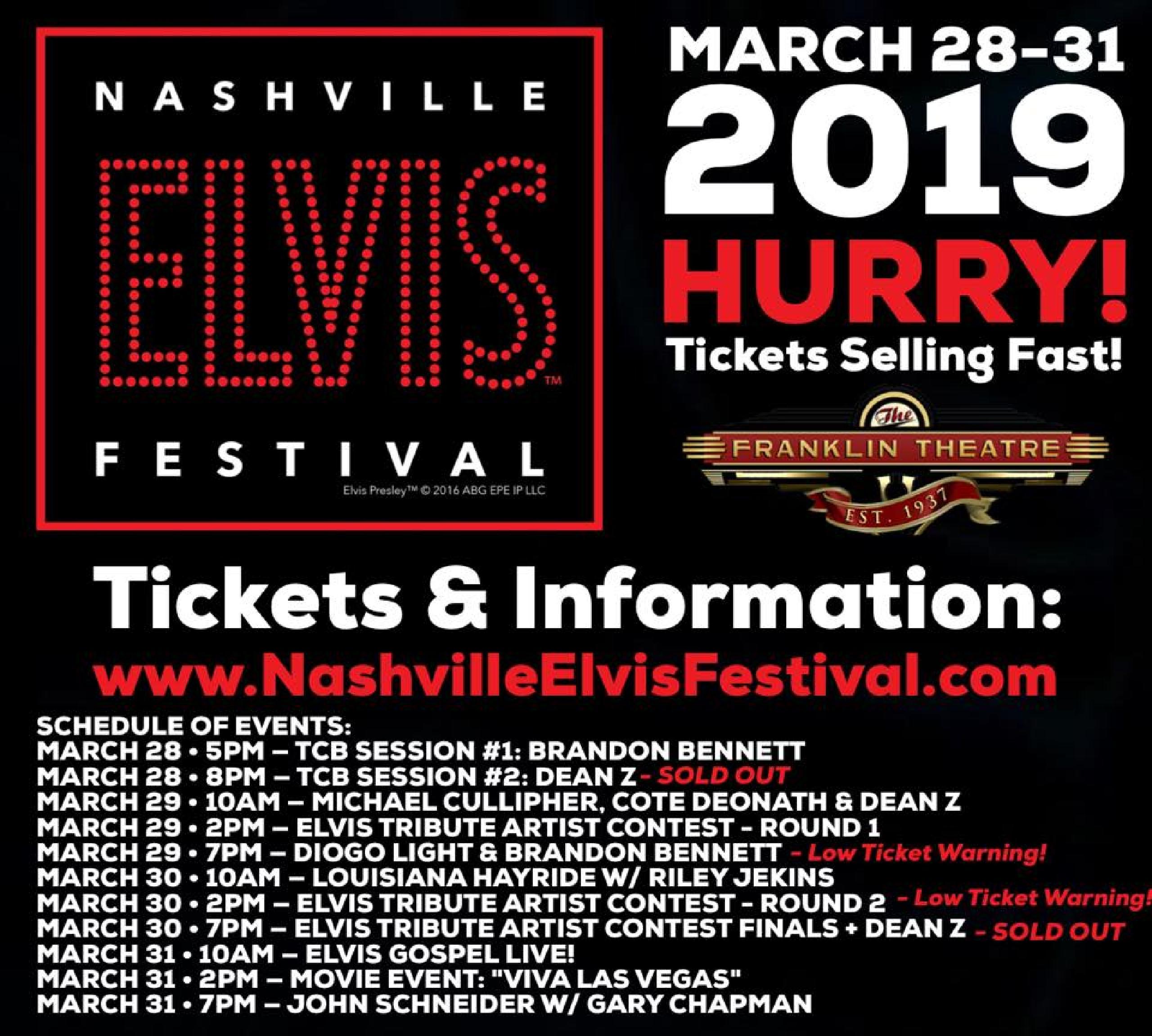 Nashville Elvis Festival Lineup
