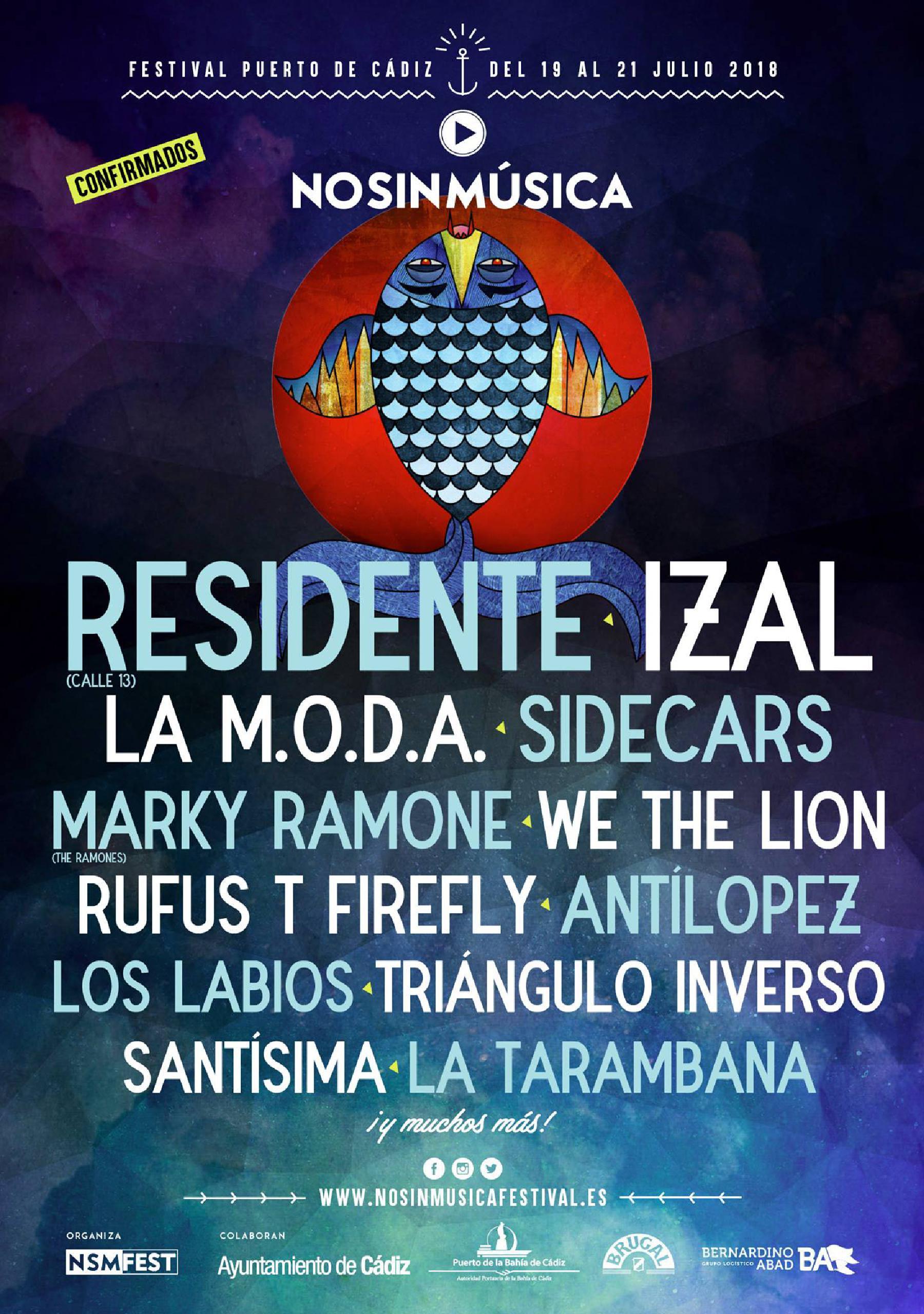 Cartel primeras confirmaciones No Sin Música 2018