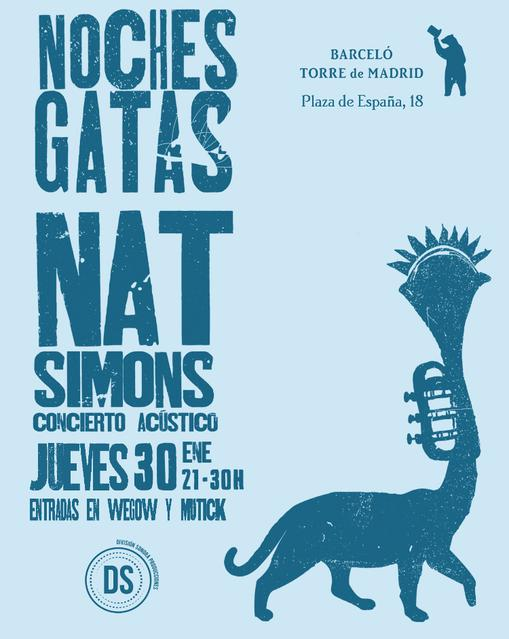 Cartel Nat Simons Noches Gatas