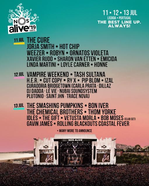 Line-Up Nos Alive 2019