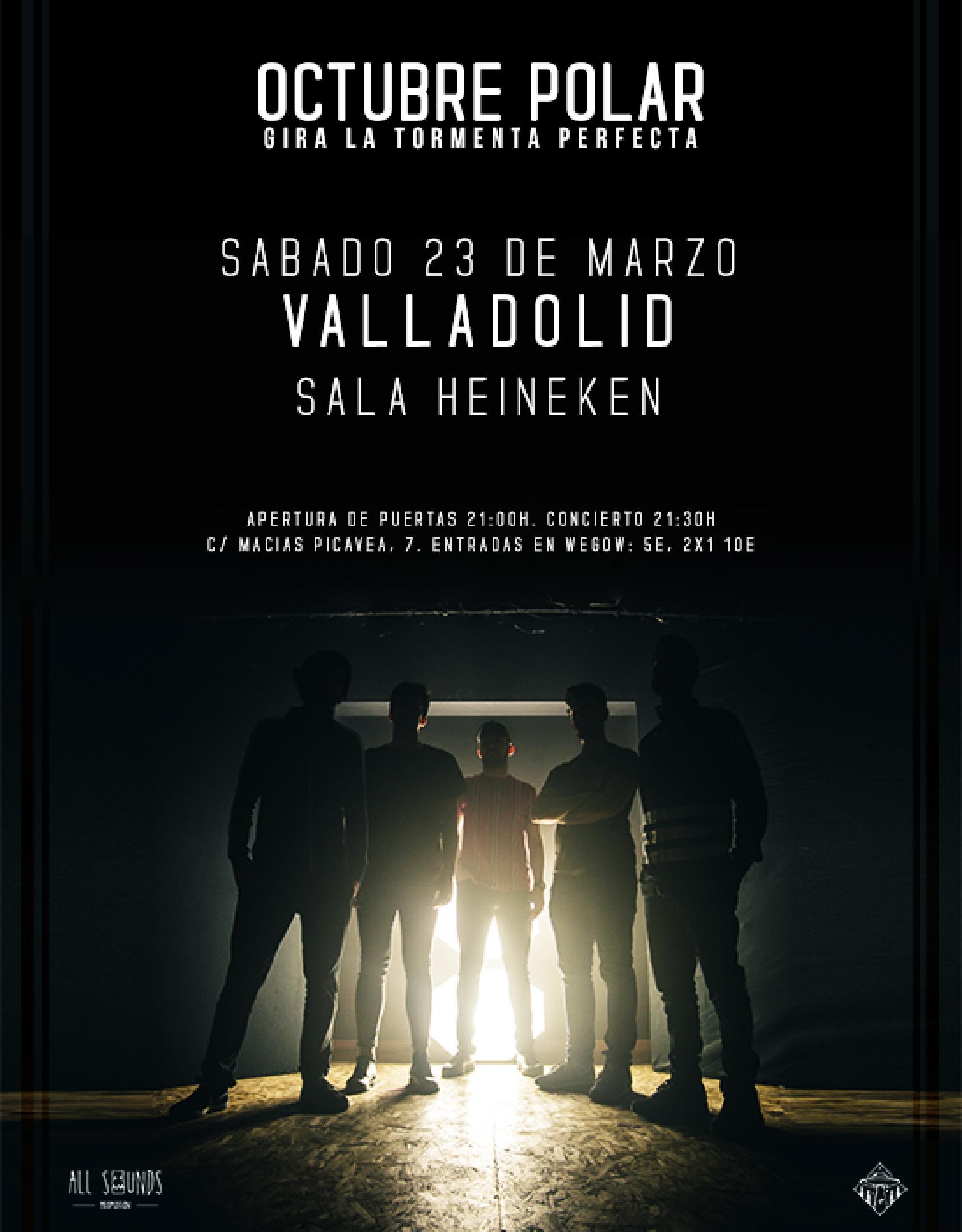 Octubre Polar presenta 'La Tormenta Perfecta' en la Sala Heineken de Valladolid.