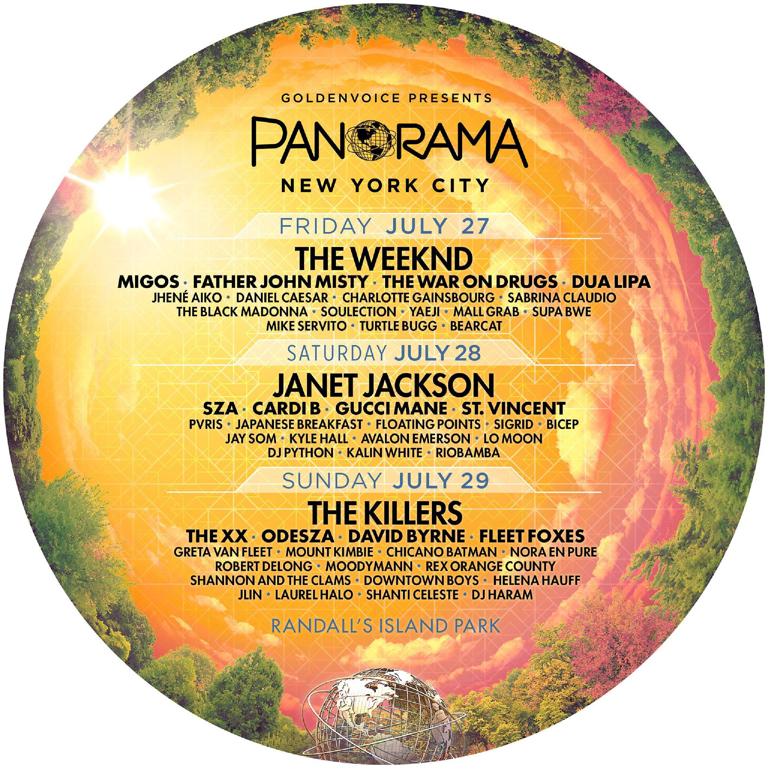 Line-up PAnorama Music Festival 2018,