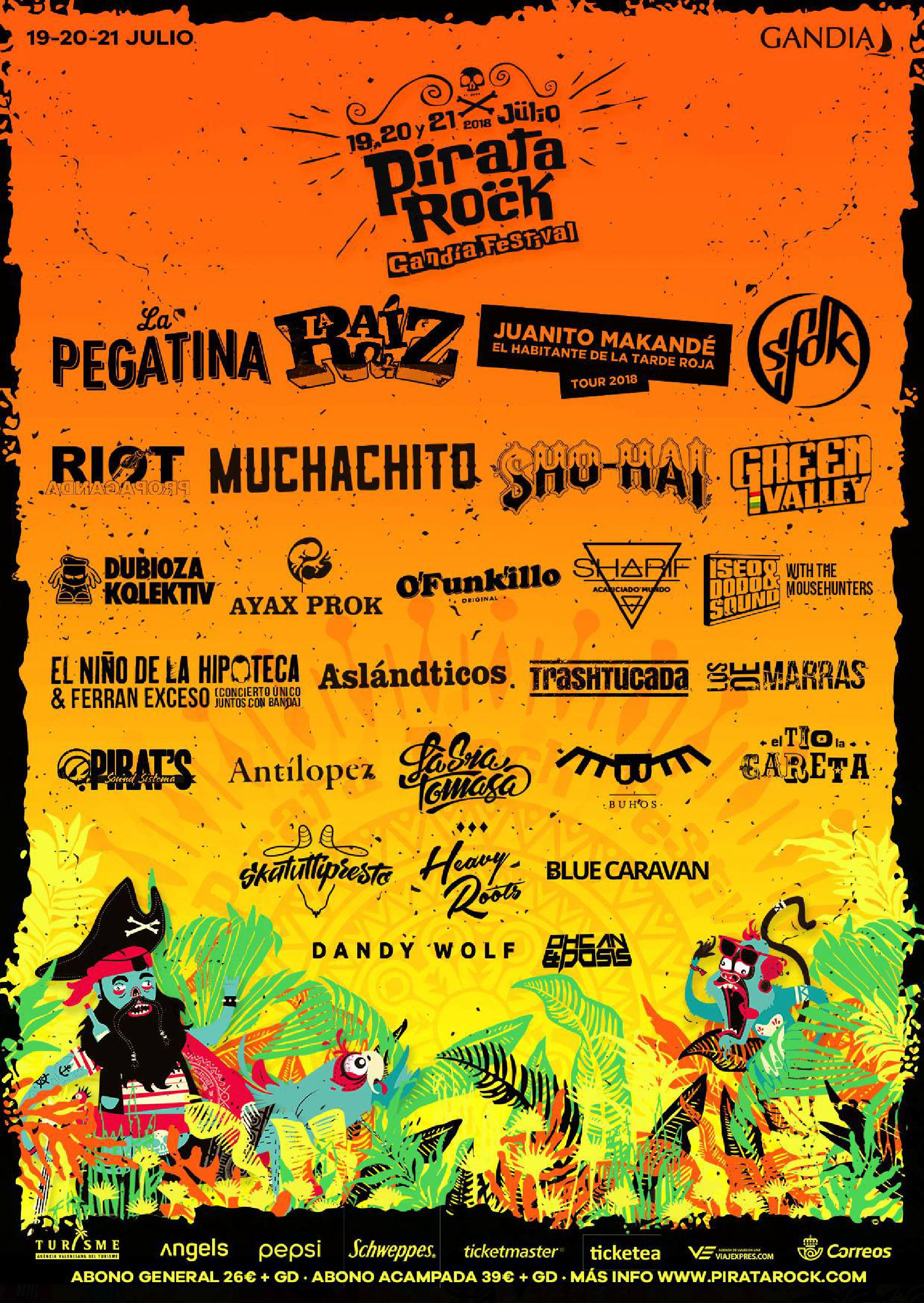 Cartel completo Pirata Rock 2018