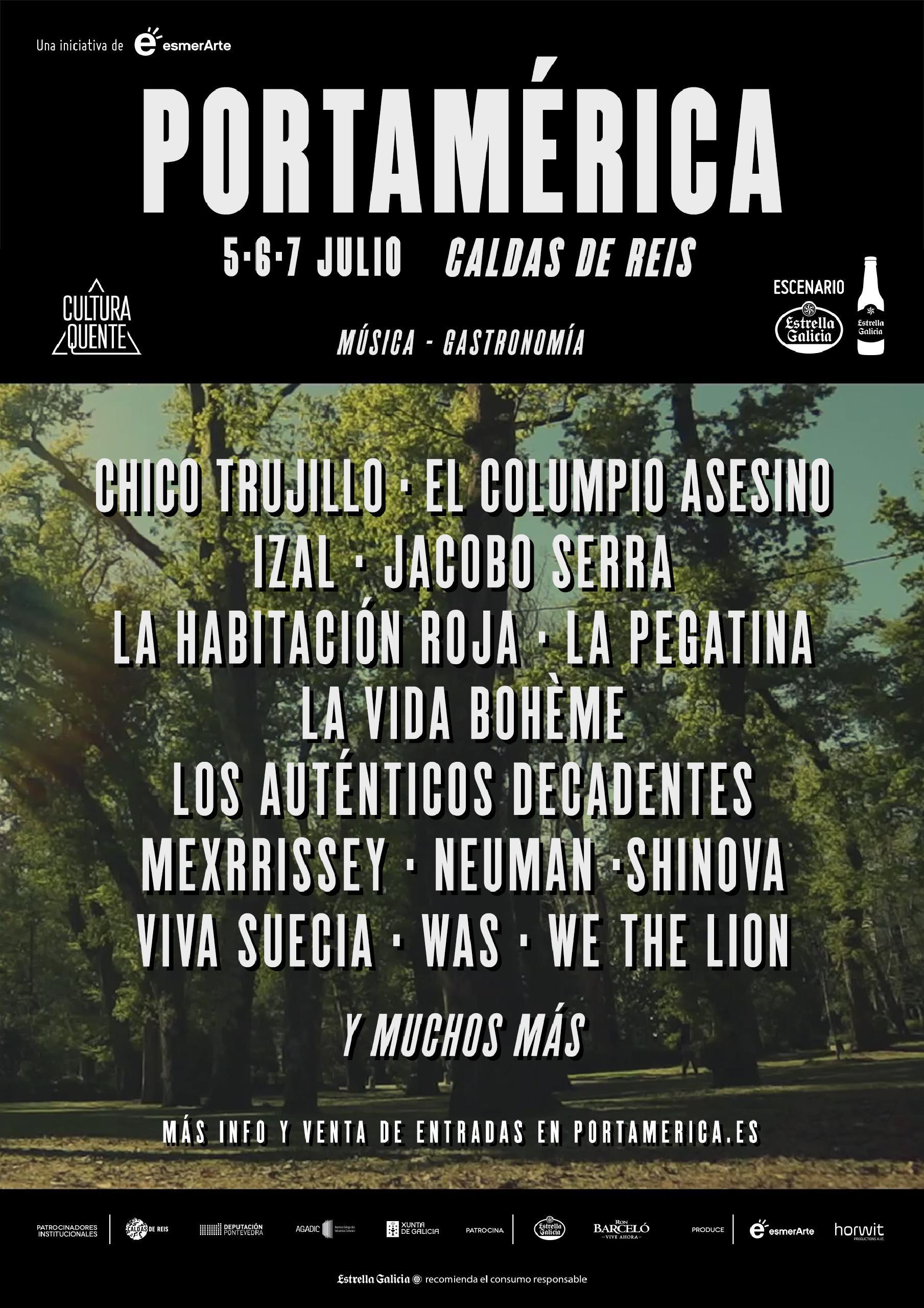 Cartel festival Portamerica 2018