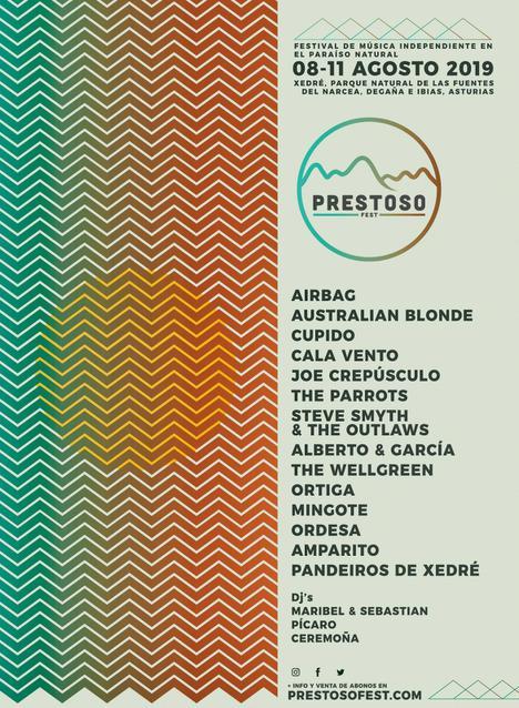 Cartel completo de la IV edición del Prestoso Fest