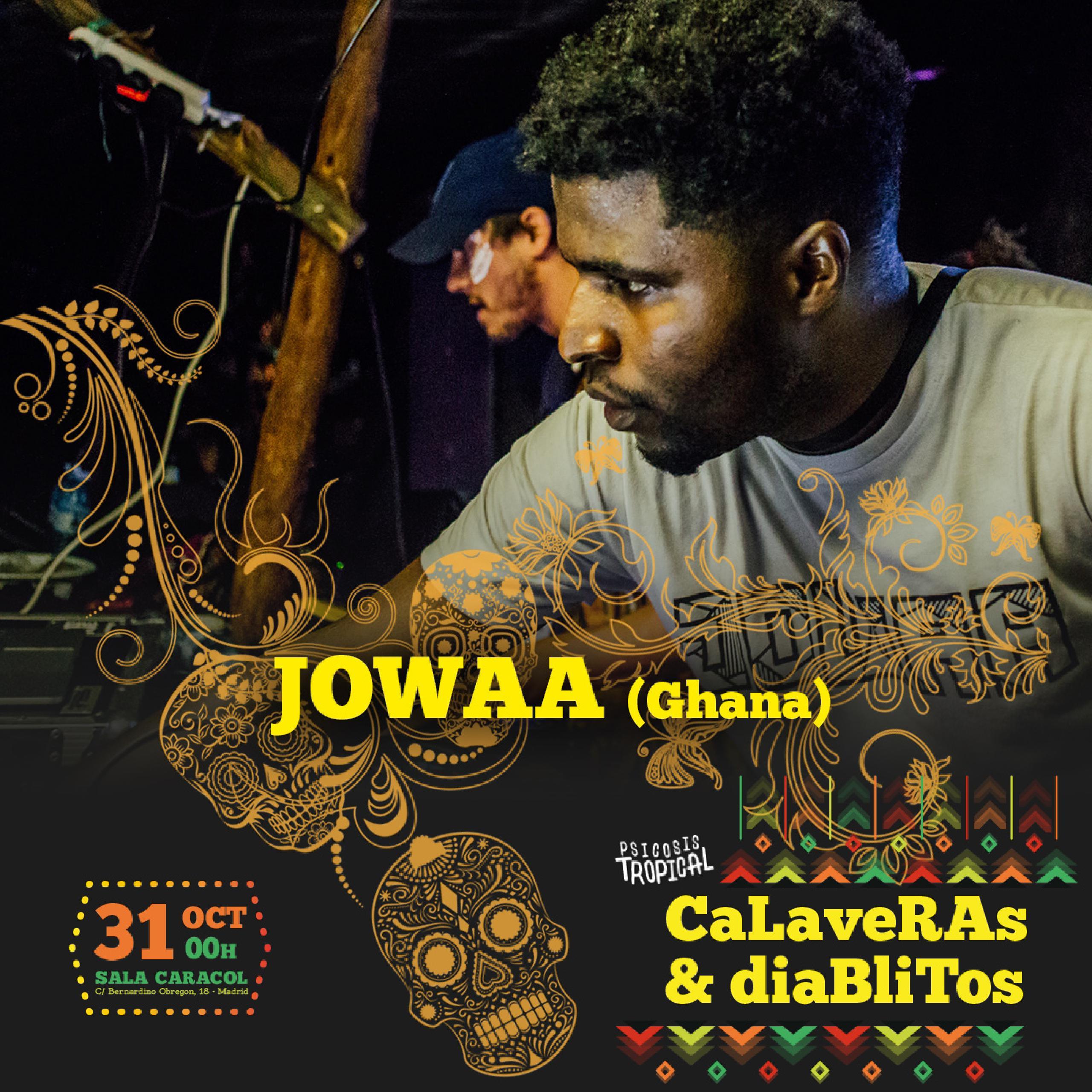 Desde Ghana y con sonidos de AfroBass y el baile como vehículo, su objetivo es tender puentes entre mundos, diversificar el sonido y conectar a las personas