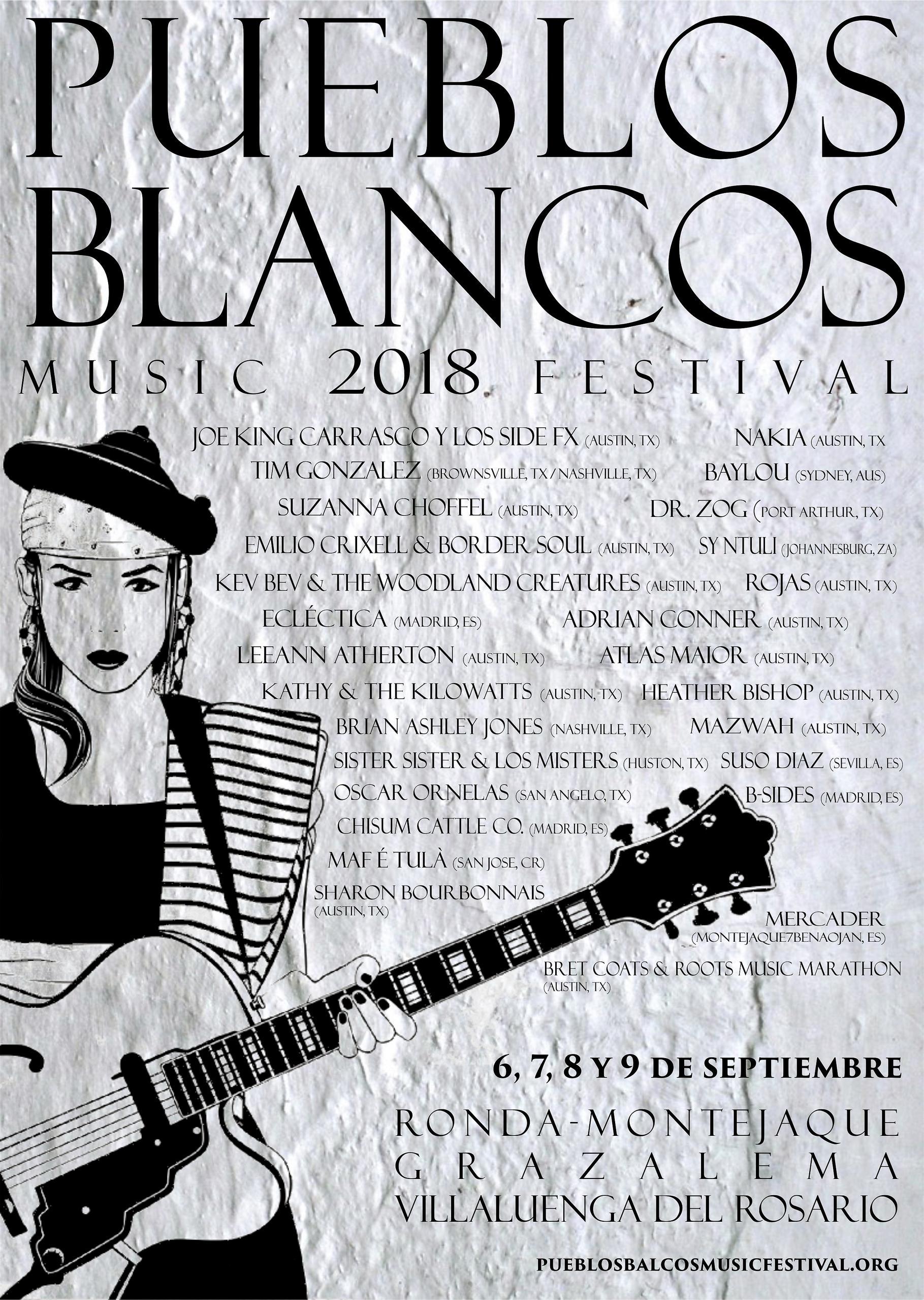 Cartel Pueblos Blancos Music Festival 2018