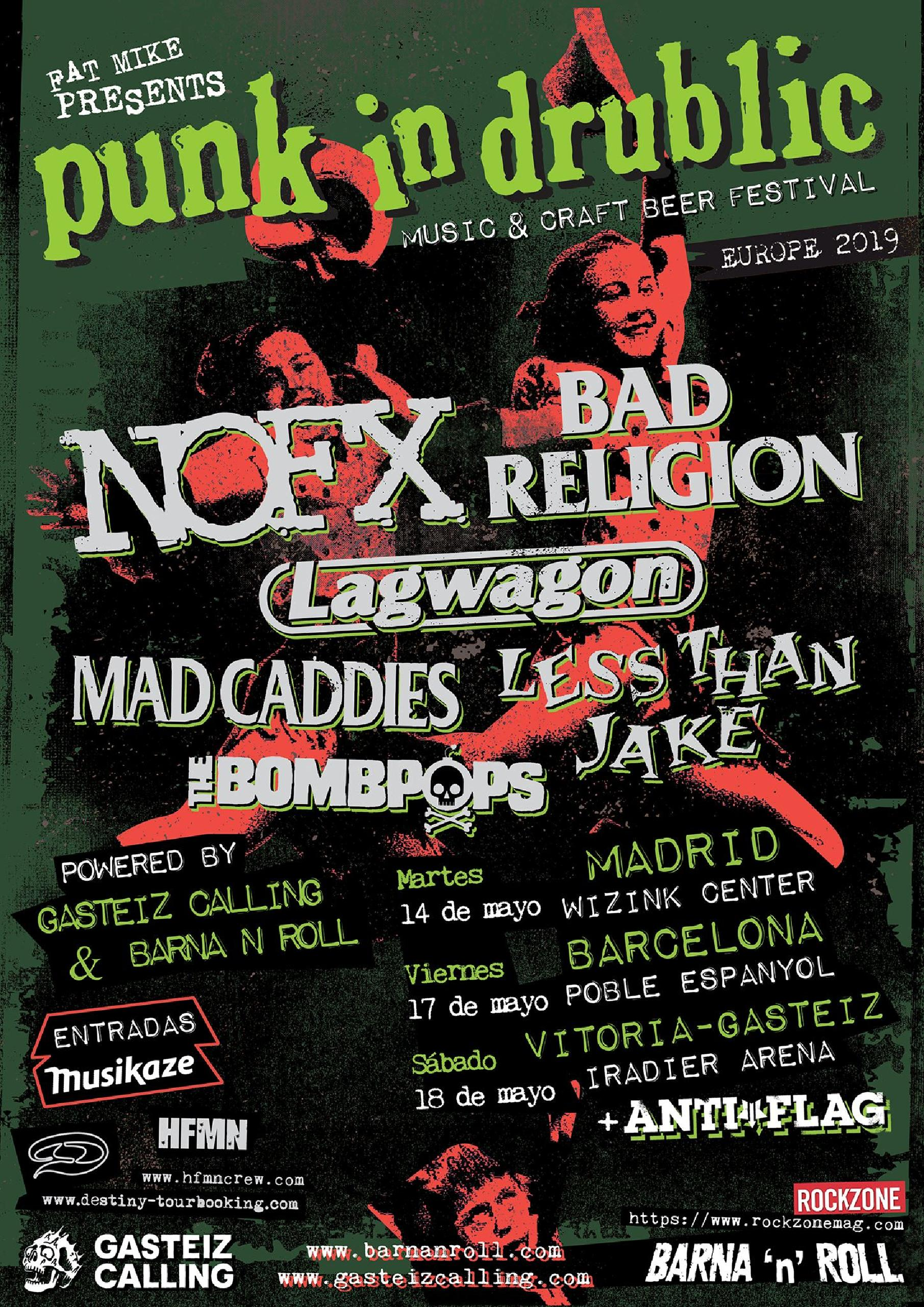 Cartel de Punk In Drublic Madrid 2019