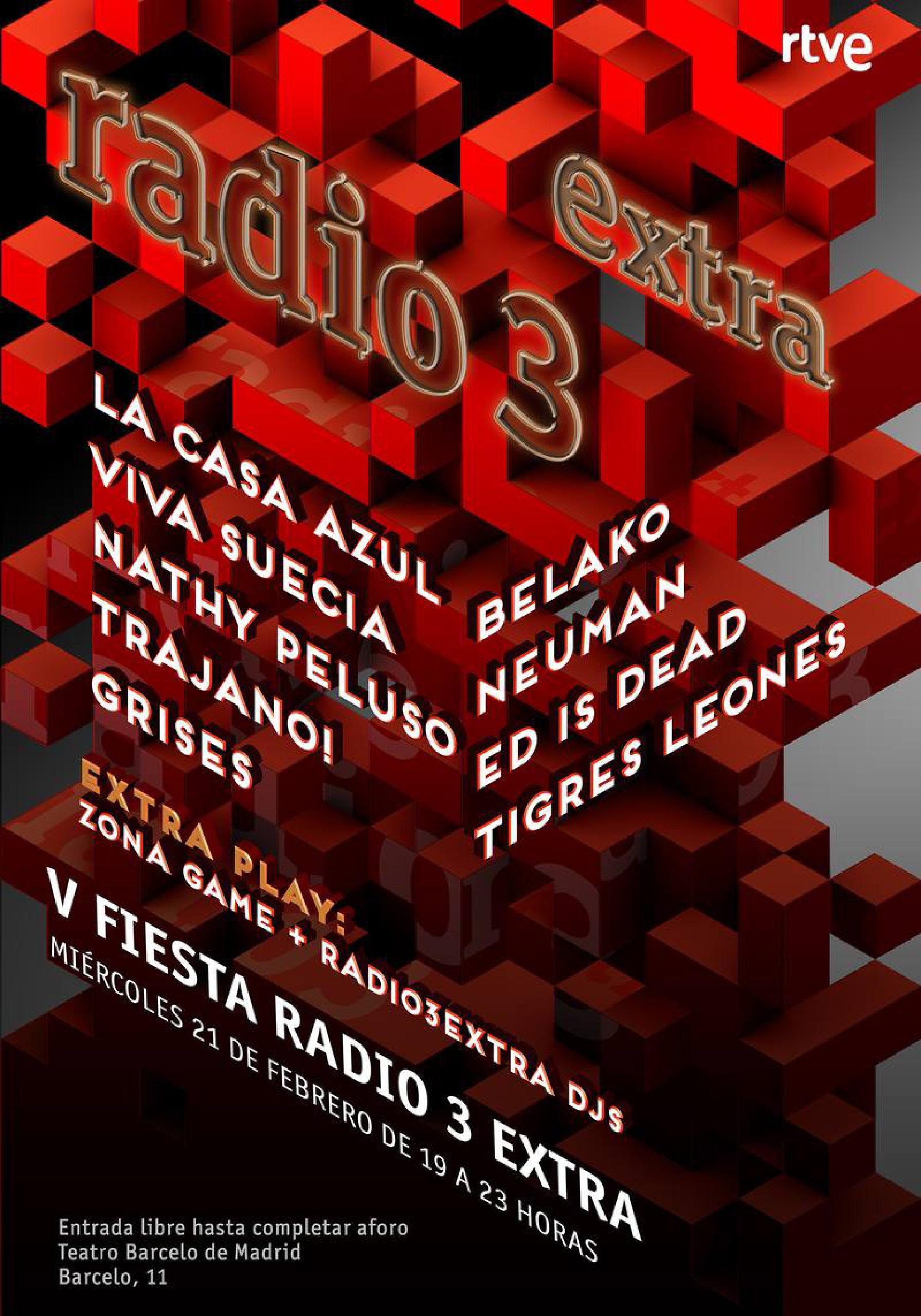 Concierto fiesta Radio 3 Extra Quinto Aniversario
