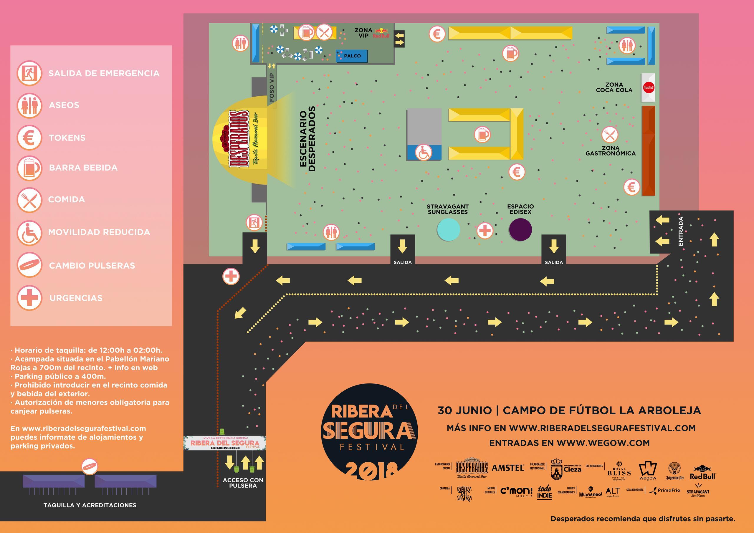 Plano del recinto musical