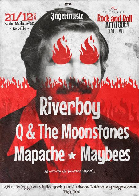 + Riverboy + Q & The Moonstones + Mapache + Maybees