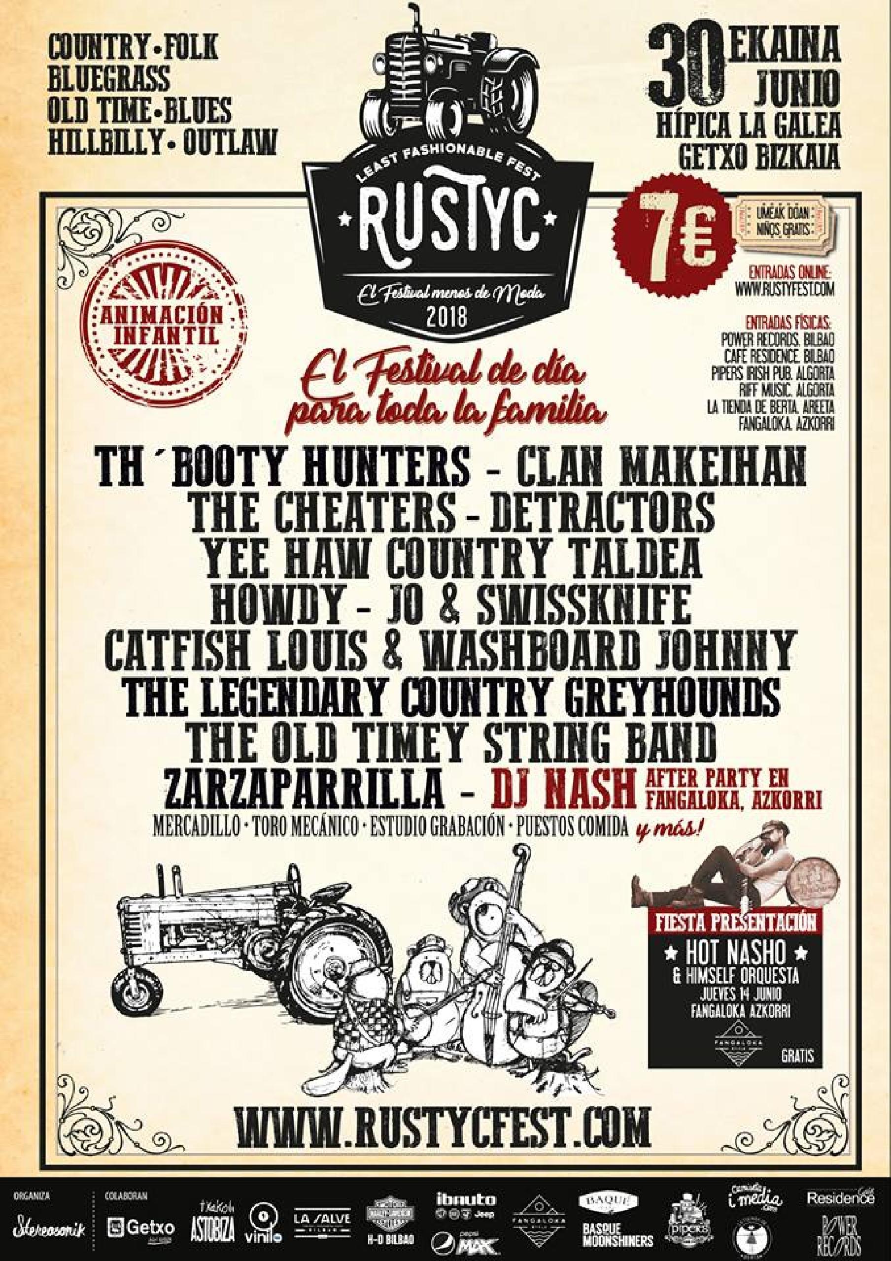 Foto del cartel del Rustyc Music Fest 2018