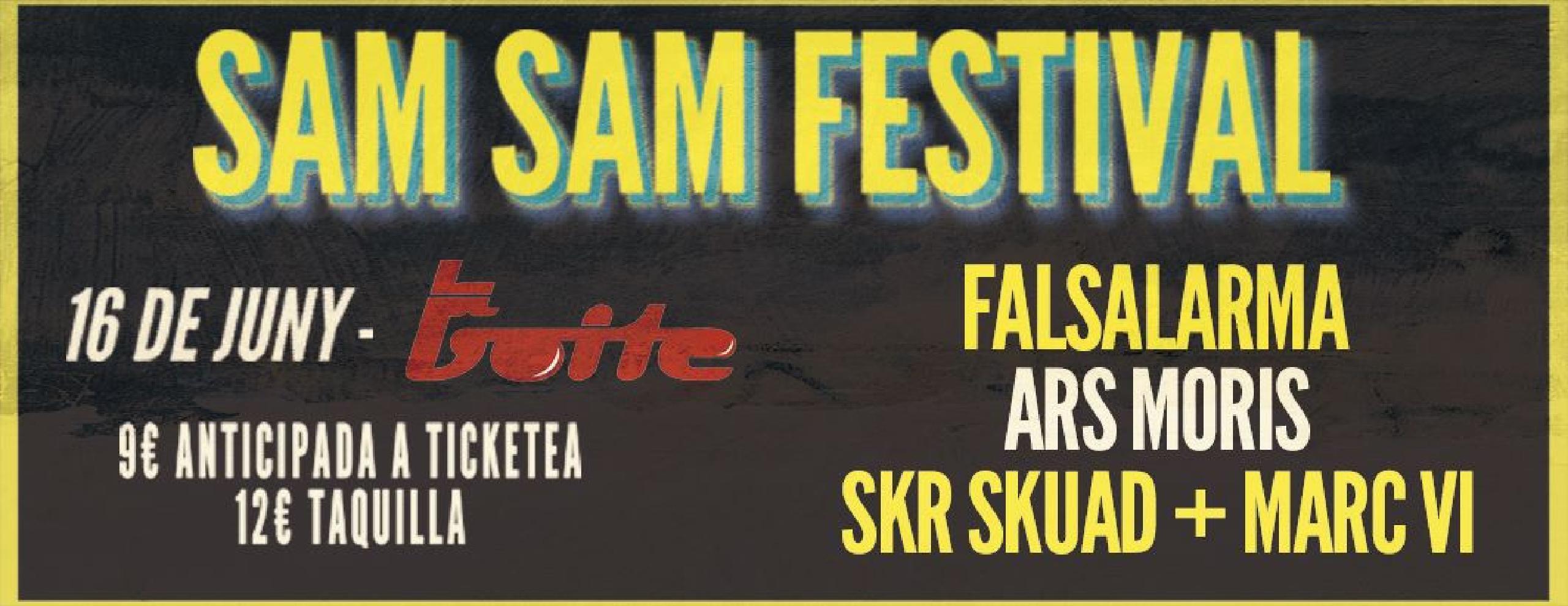 Foto del cartel del SAM SAM Festival Lleida 2018