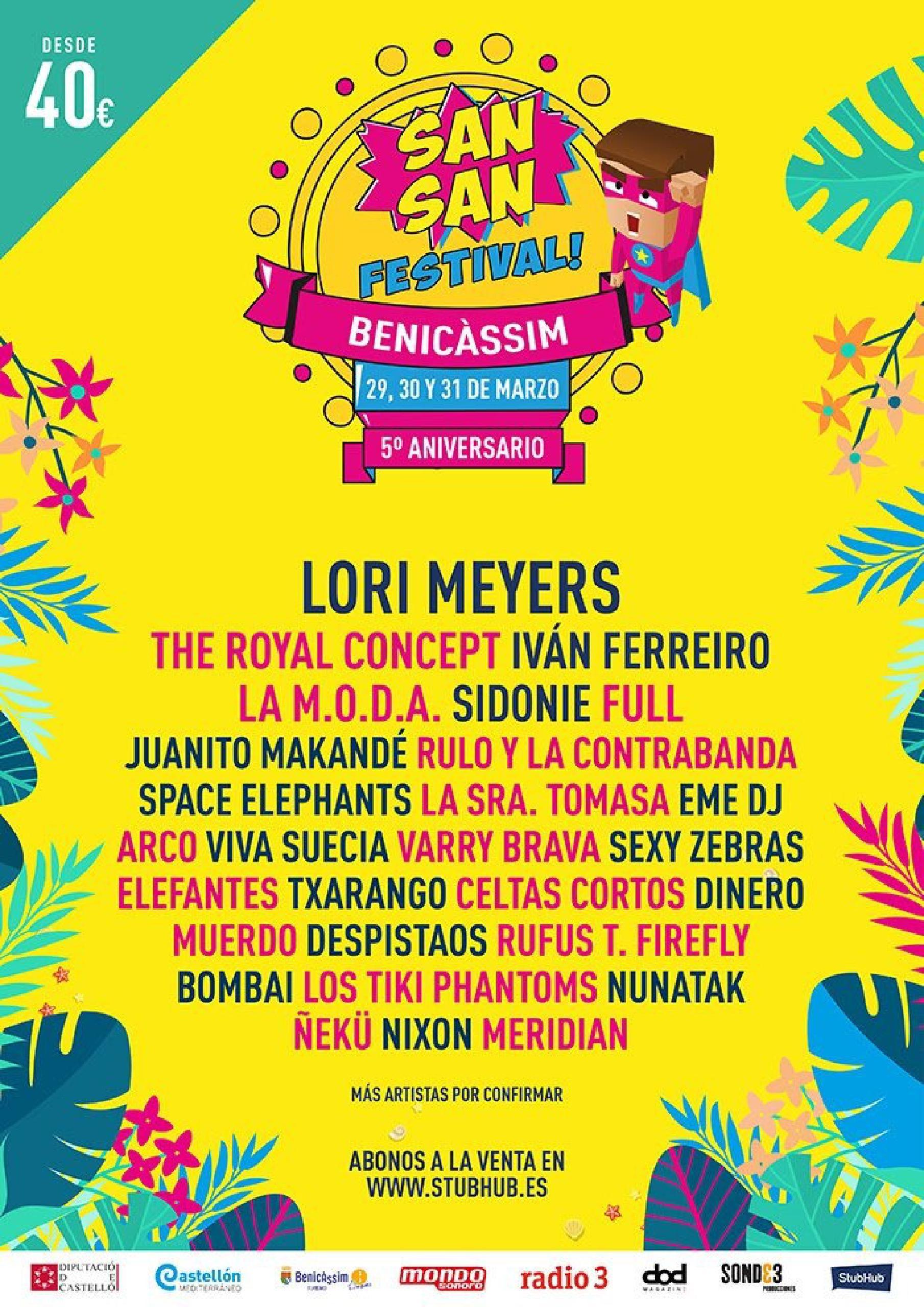 Concfirmaciones cartel Sansan Festival 2018