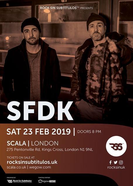 Sábado 23 febrero 2019 / 20 horas @ Scala, Londres