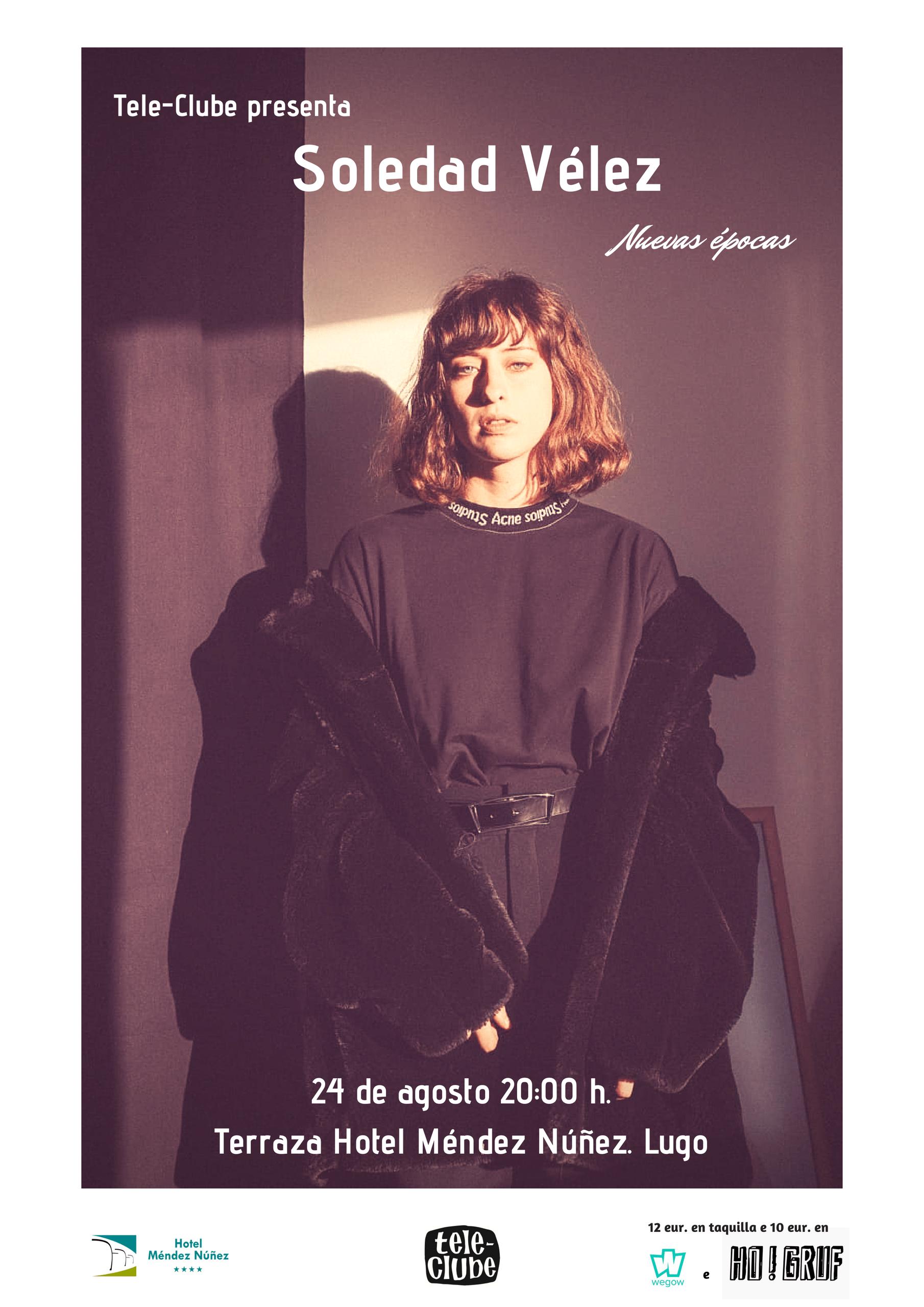 Cartel Soledad Vélez en Lugo