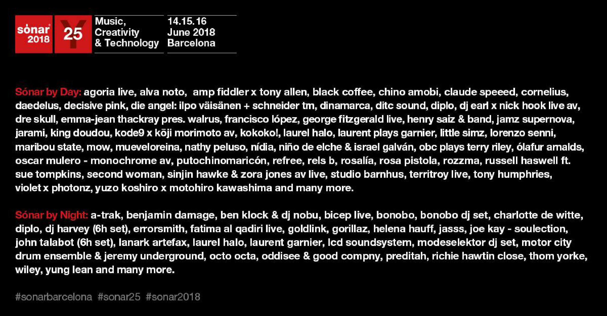Cartel Sónar 2018