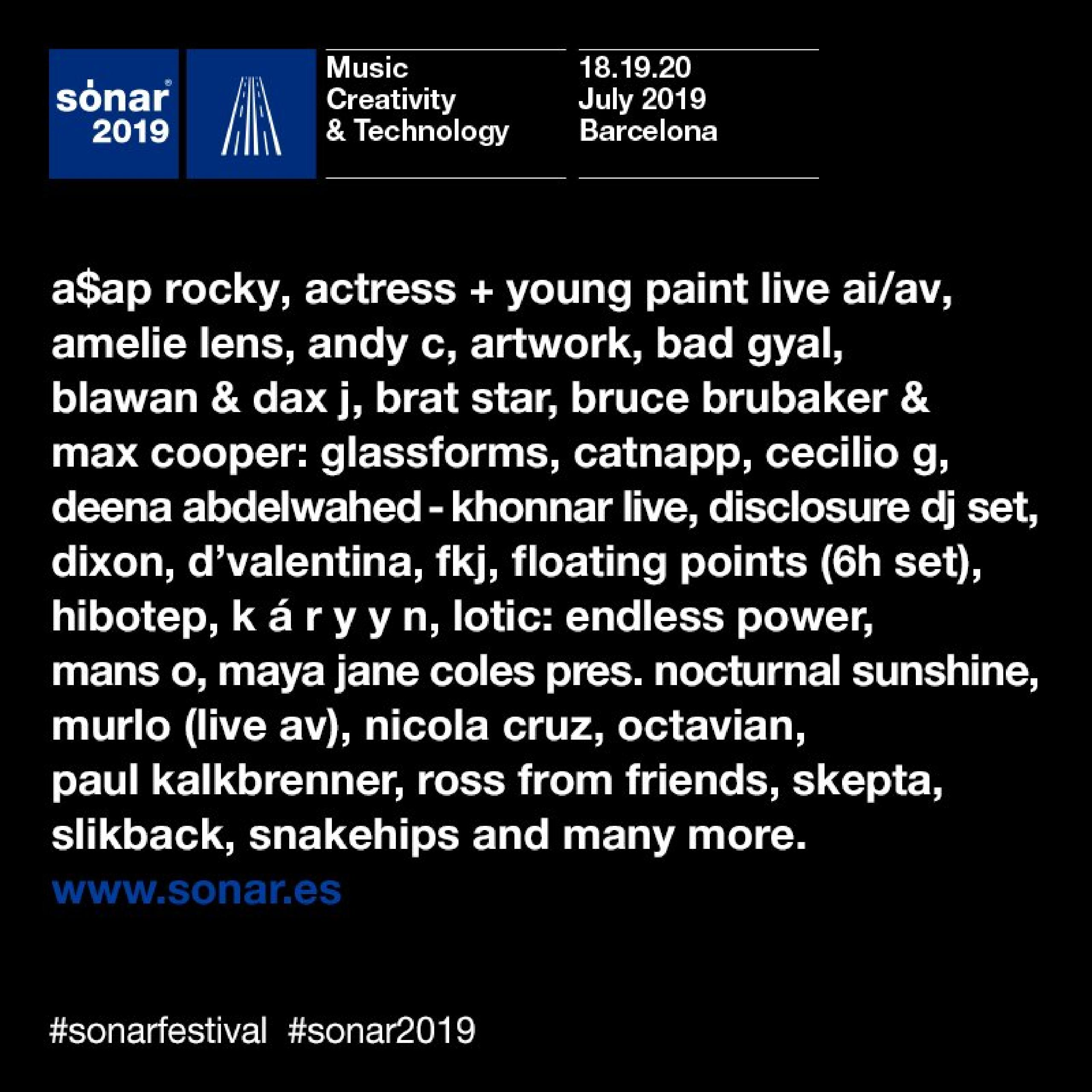 Cartel de Sónar Barcelona 2019
