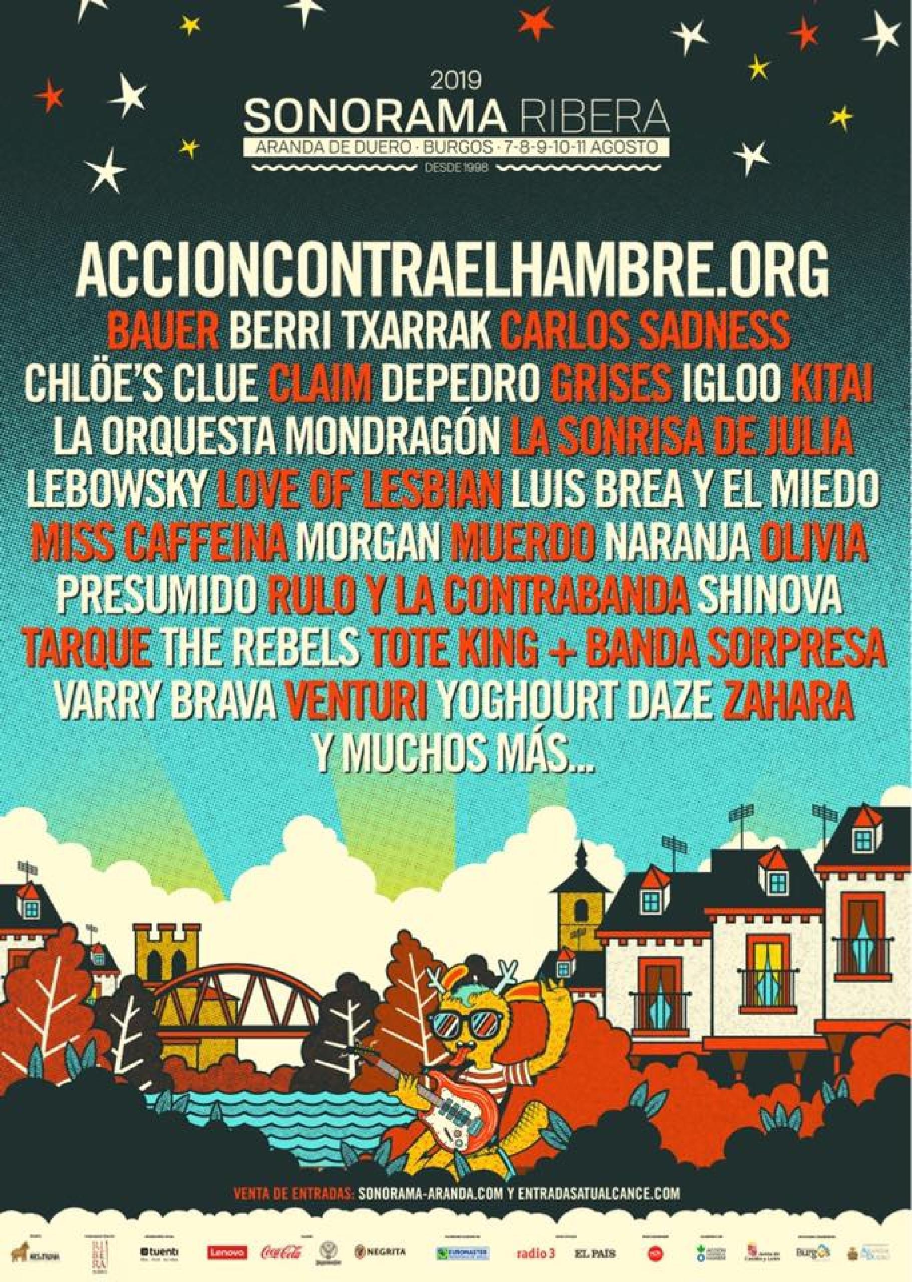 Cartel confirmaciones Sonorama Ribera 2019
