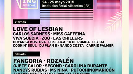 Cartel por días Spring Festival 2019 Alicante