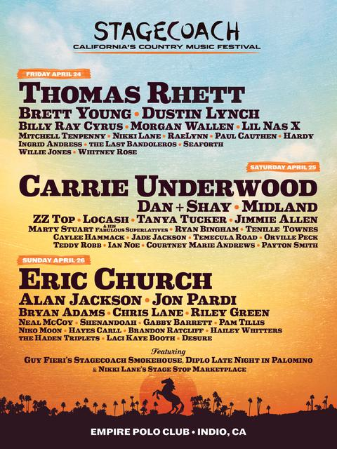 Stagecoach Festival 2020 line-up
