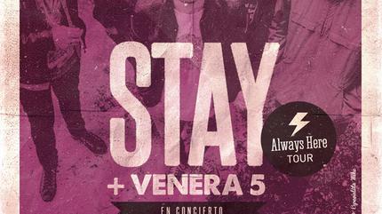 Concierto de Stay + Venera 5 en Madrid. Sala Maravillas