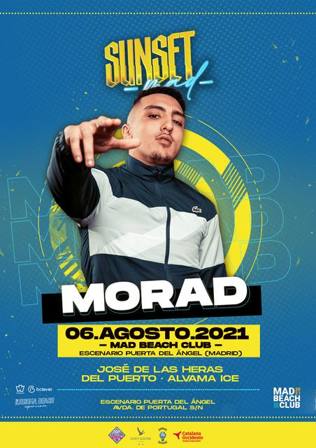 Eventos Mad Beach Club 2021 Sunset Morad 6 de agosto 2021
